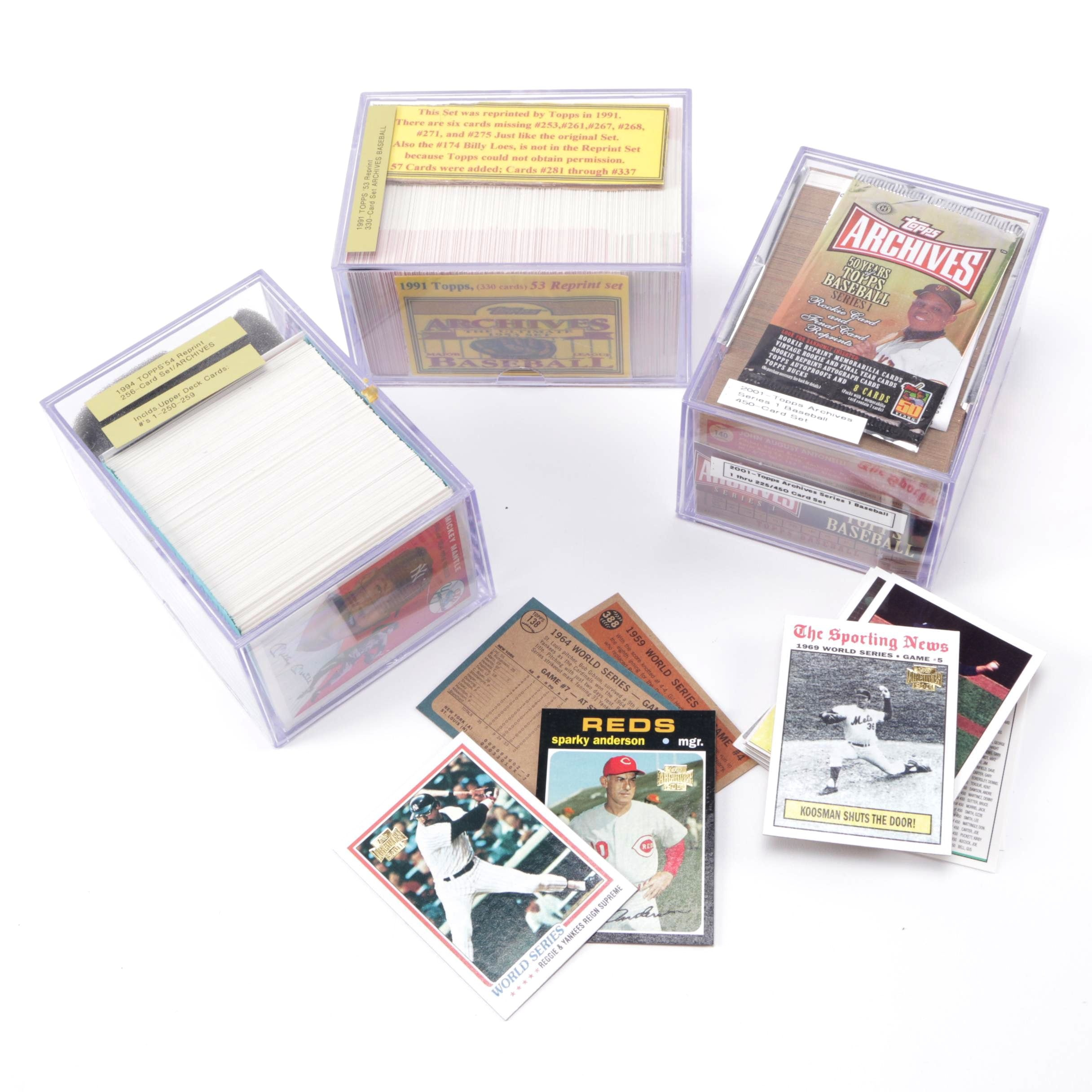 Assortment of Topps and Upper Deck 1990s Baseball Cards