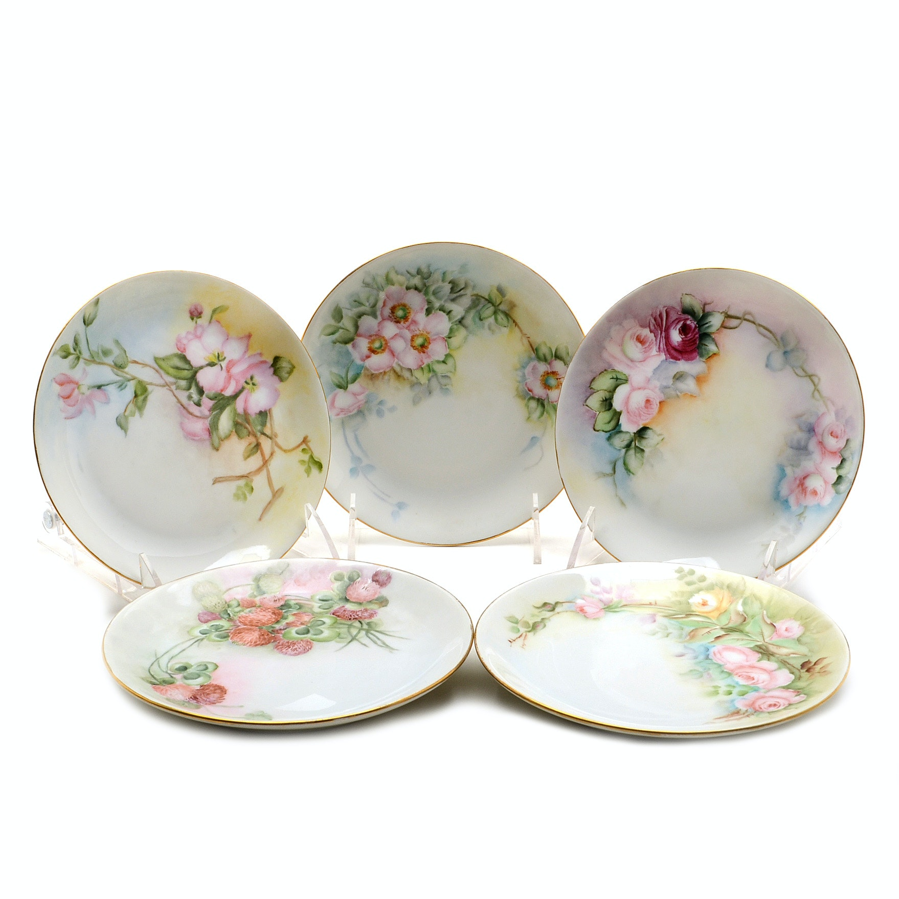 Hutschenreuther Hand Painted Plates