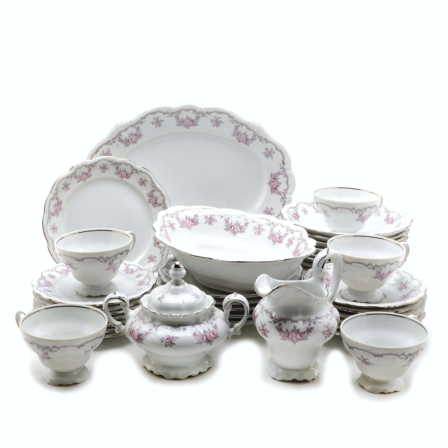 """Collection of Vintage """"Petit Point"""" Haviland China"""