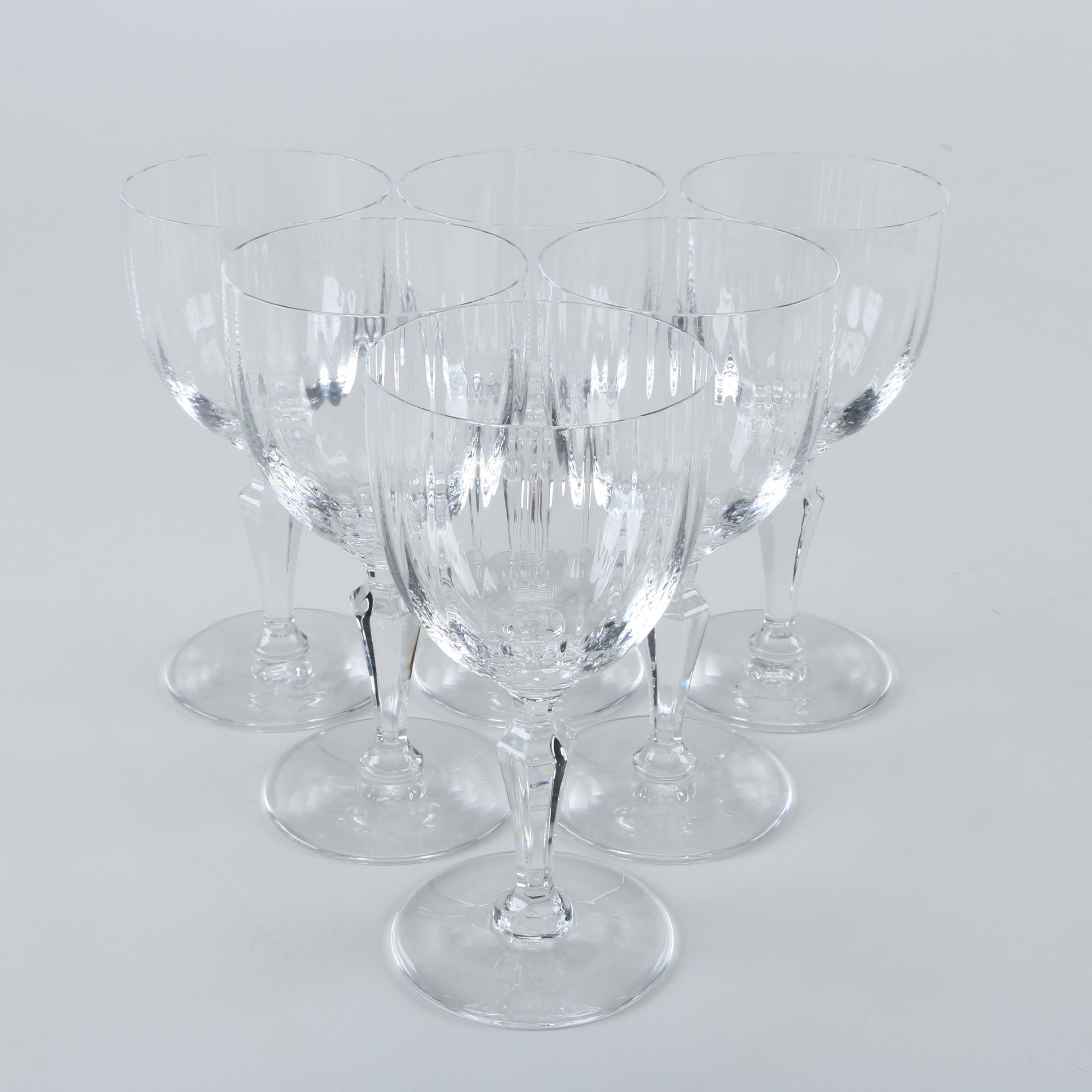 """Baccarat """"Naples"""" Crystal Water Goblets"""