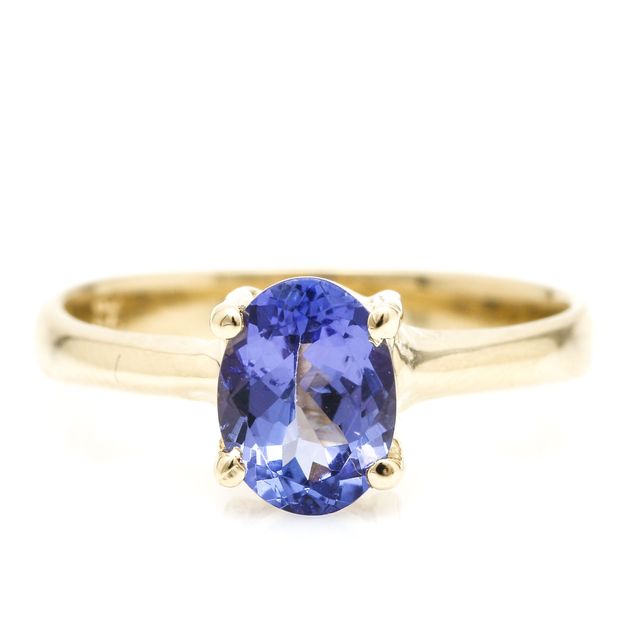 14K Yellow Gold 1.17 CT Tanzanite Ring