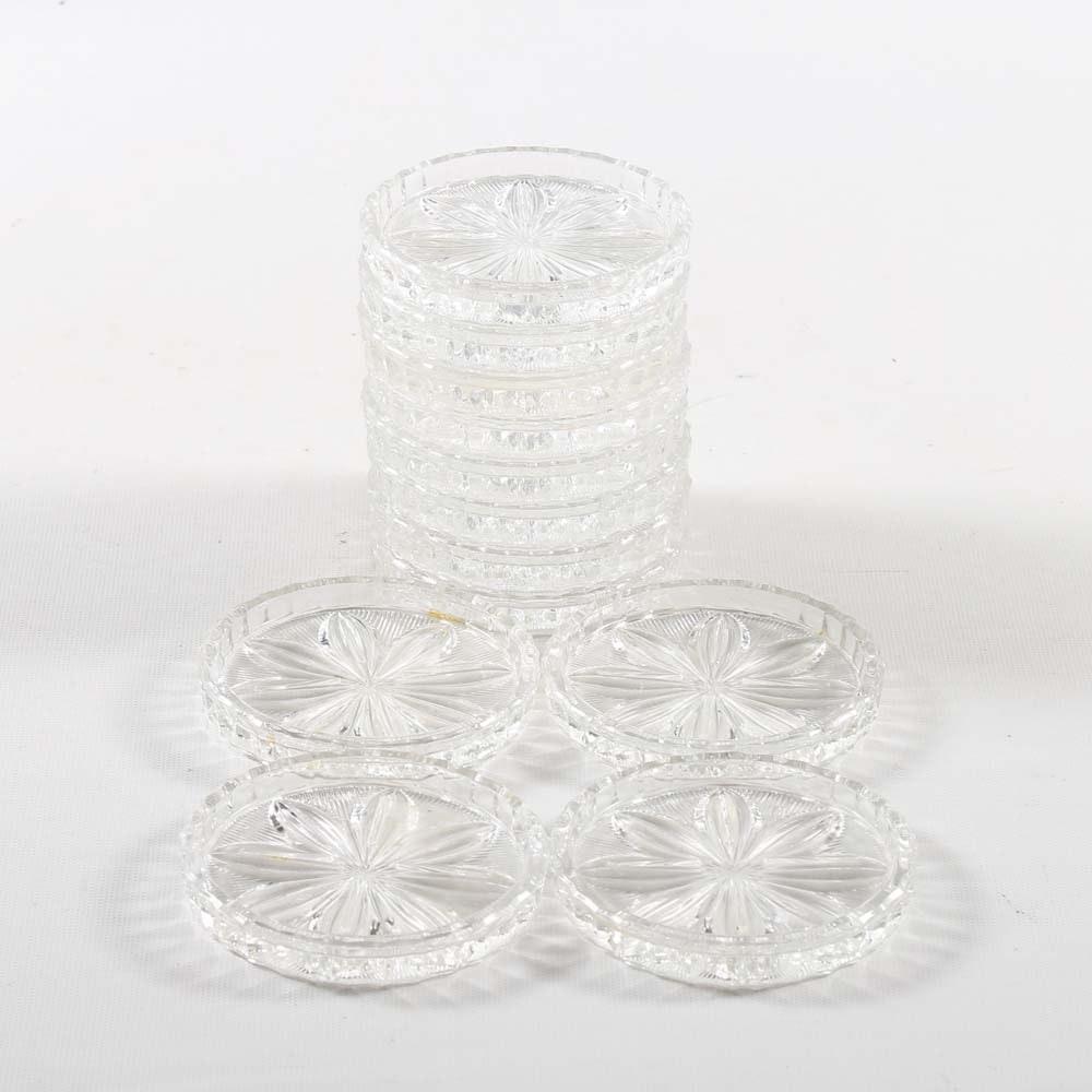 "Val St. Lambert ""Depose"" Crystal Coasters"