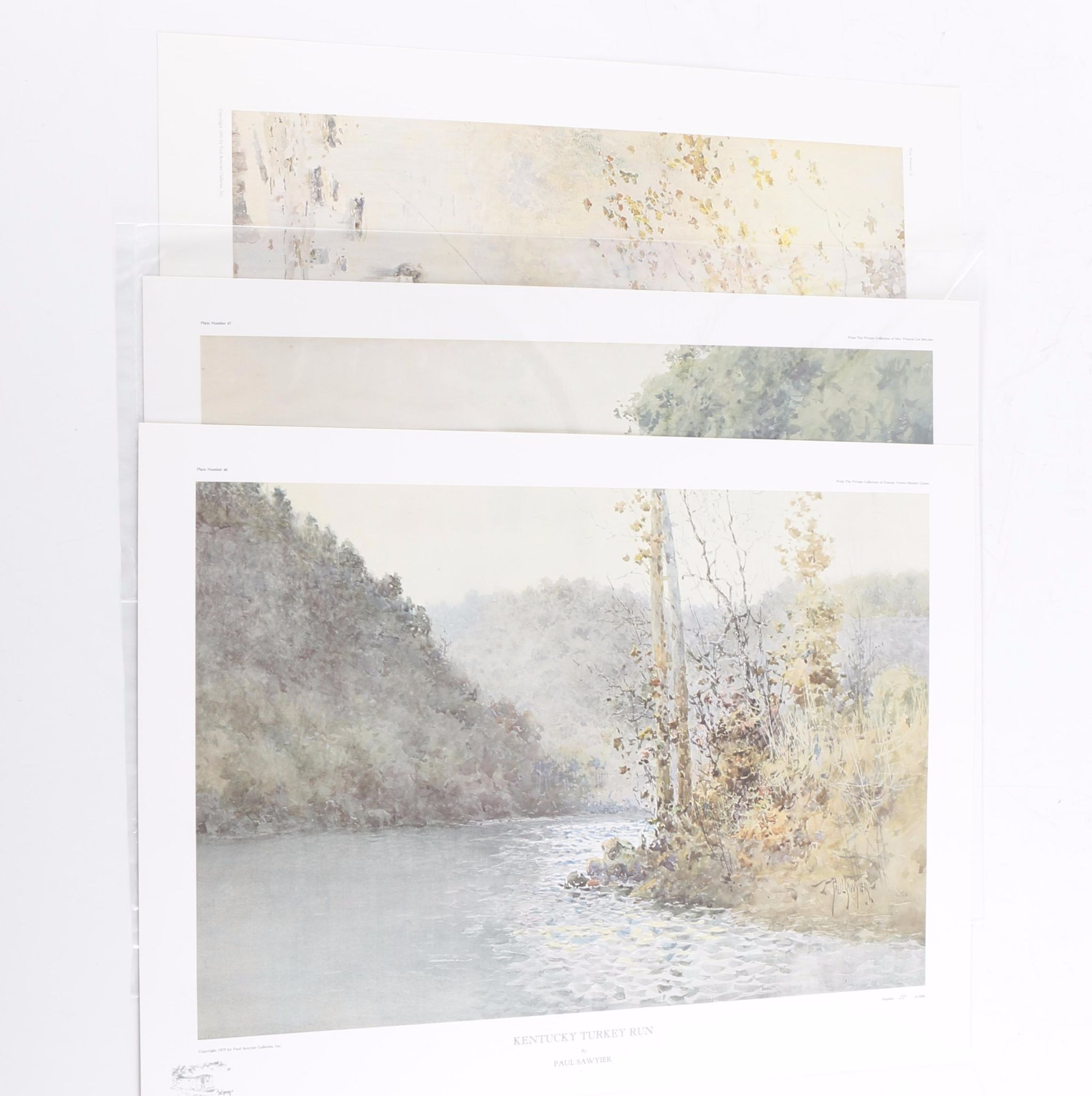 Collection of Paul Sawyier Limited Edition Offset Lithographs on Paper
