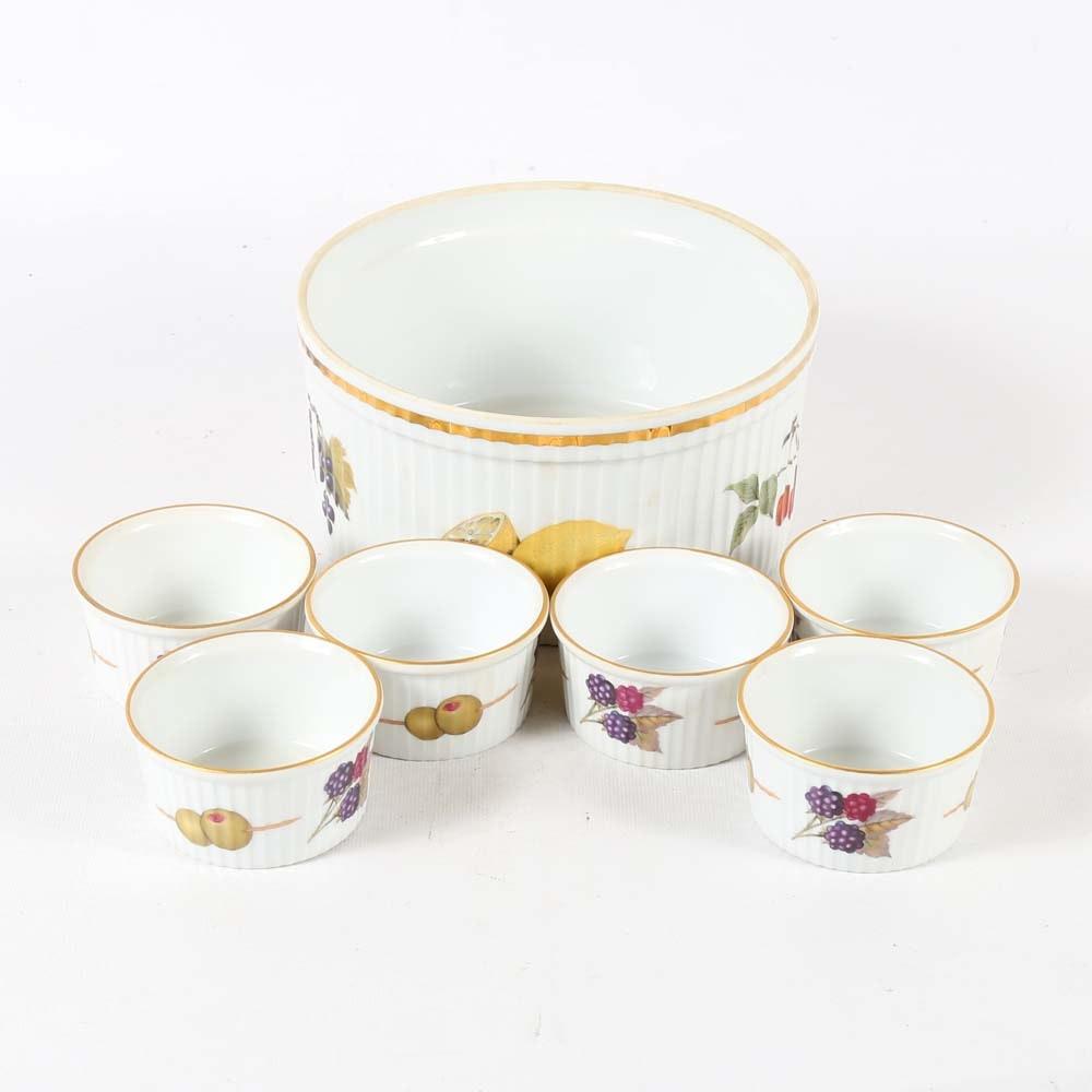"Royal Worcester ""Evesham"" Tableware"