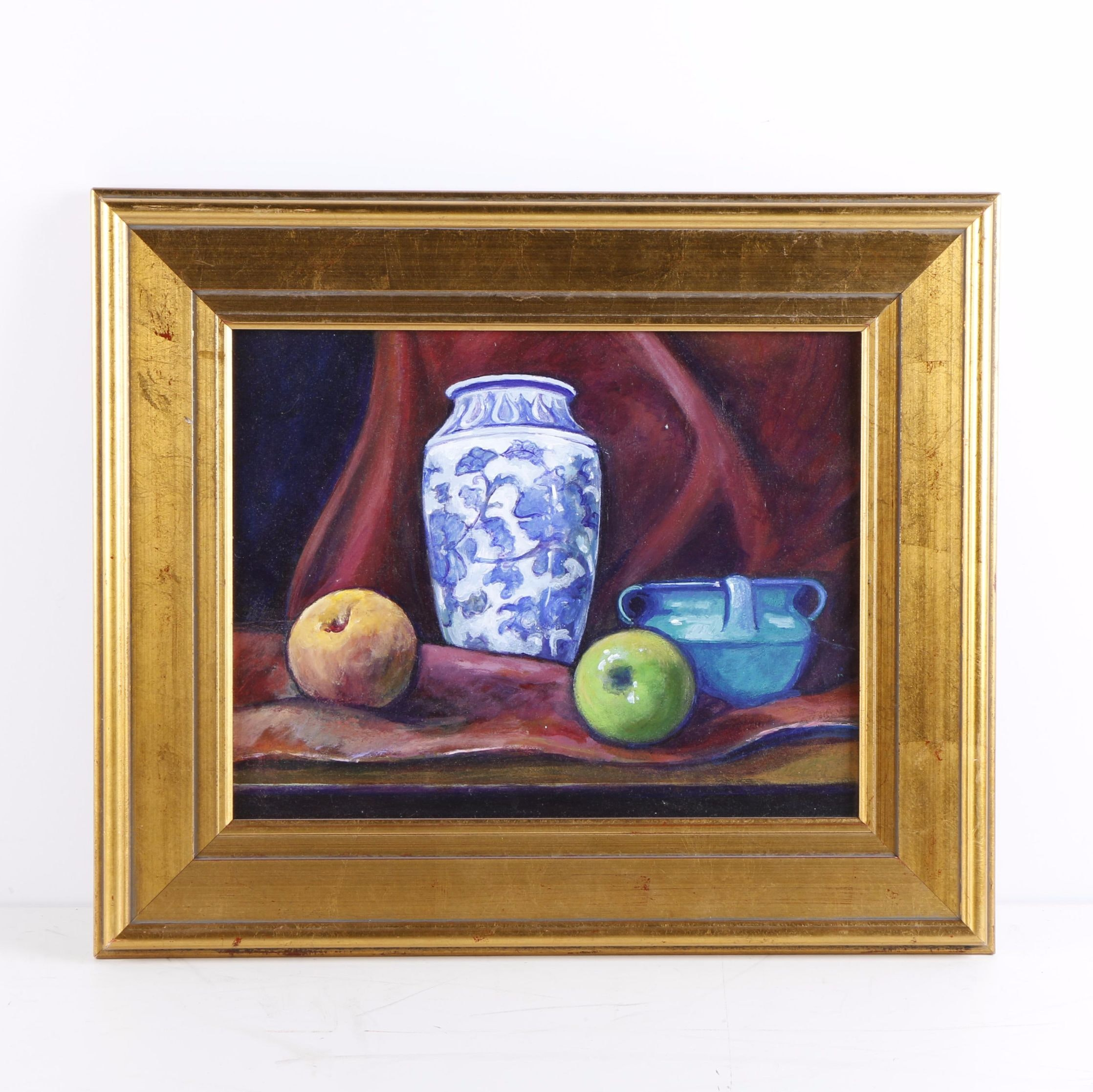 Still Life Oil Painting on Board