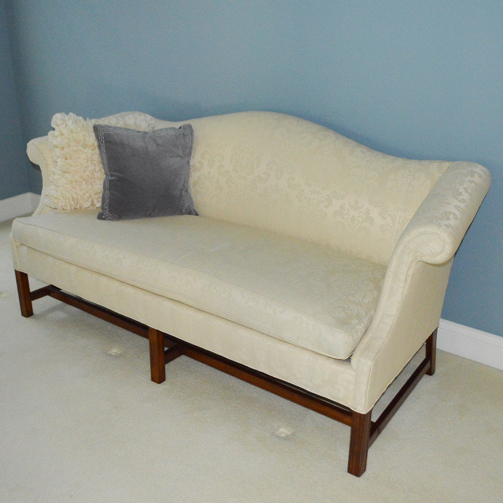 Chippendale Style Camelback Sofa By Clayton Marcus ...