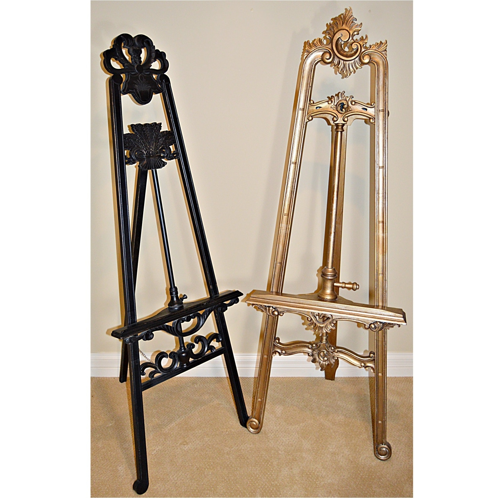 French Louis XV Style and Eastlake Style Floor Easels