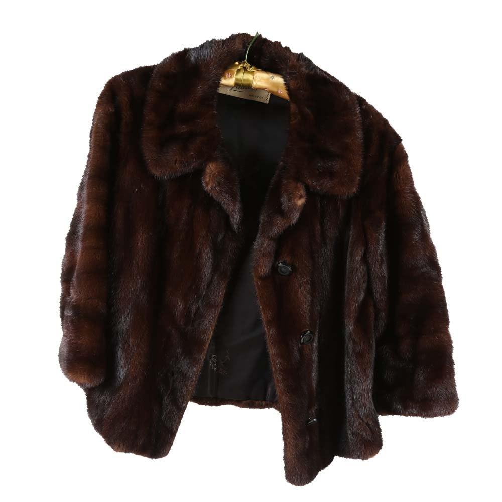 Mink Button Front Fur Coat
