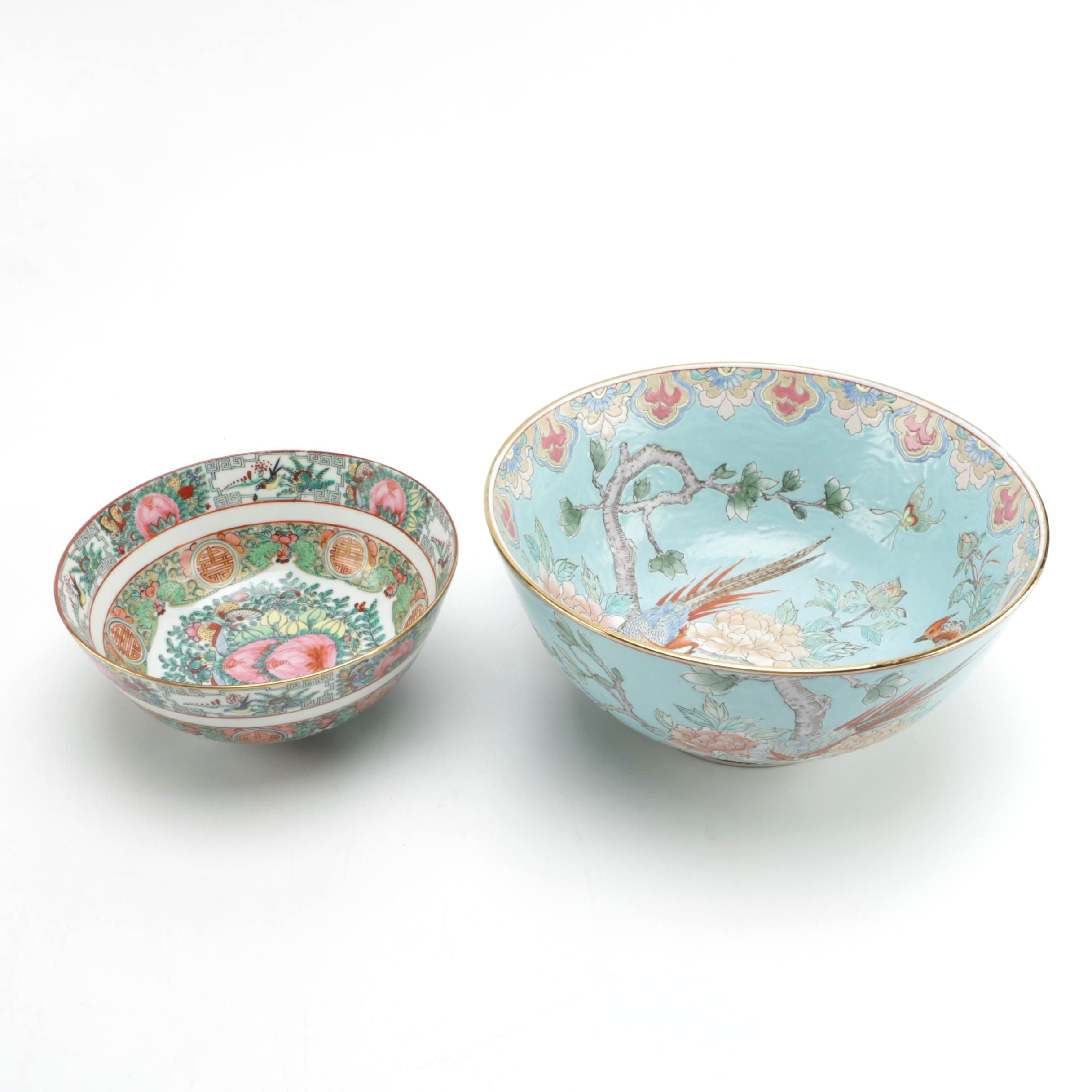 Chinese Decorated Porcelain Bowls