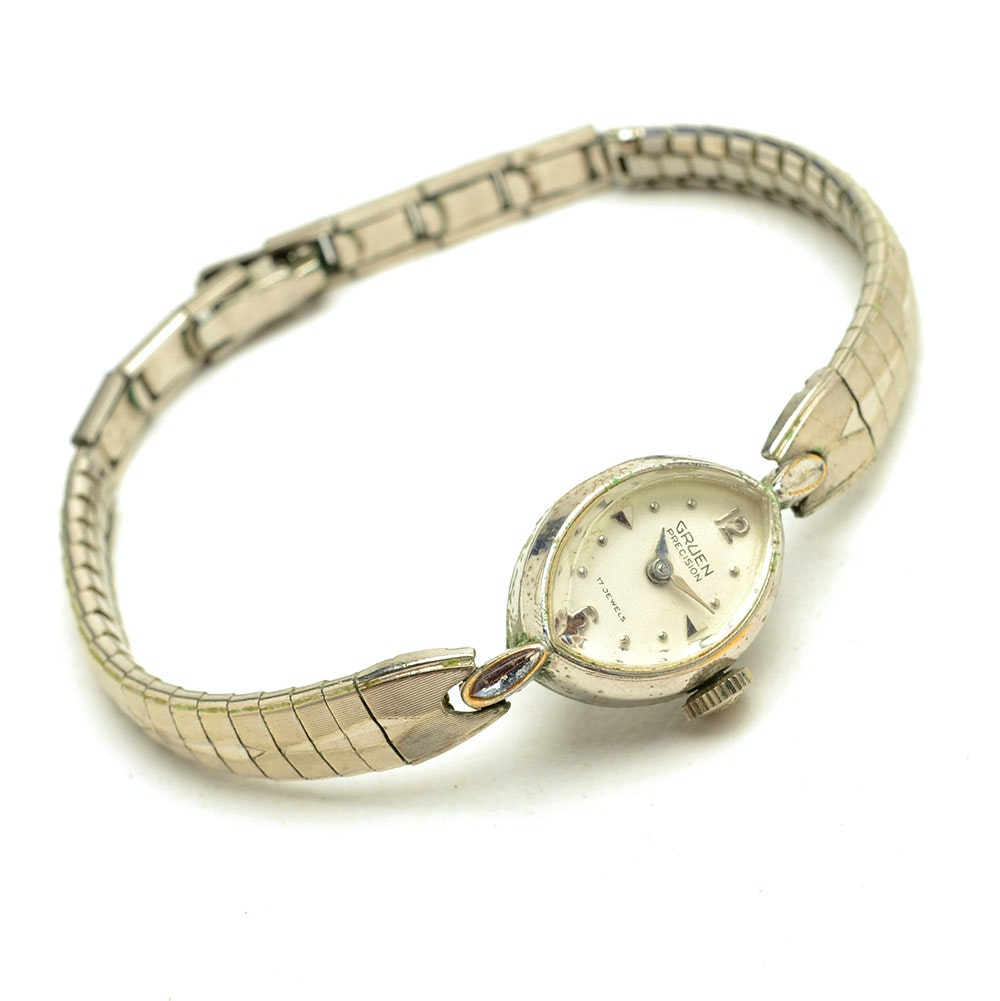 1930s Gold Filled Women's Gruen Precision Wristwatch