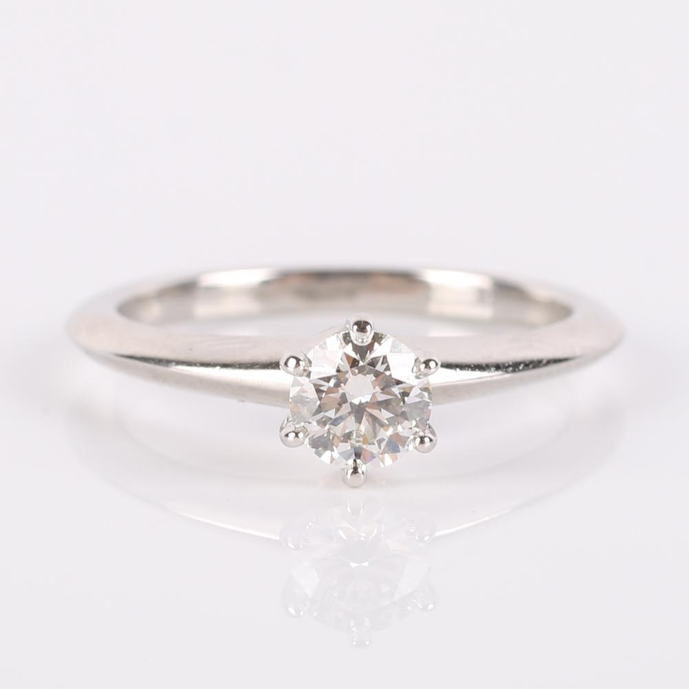 Tiffany & Co Platinum Solitaire Diamond Ring