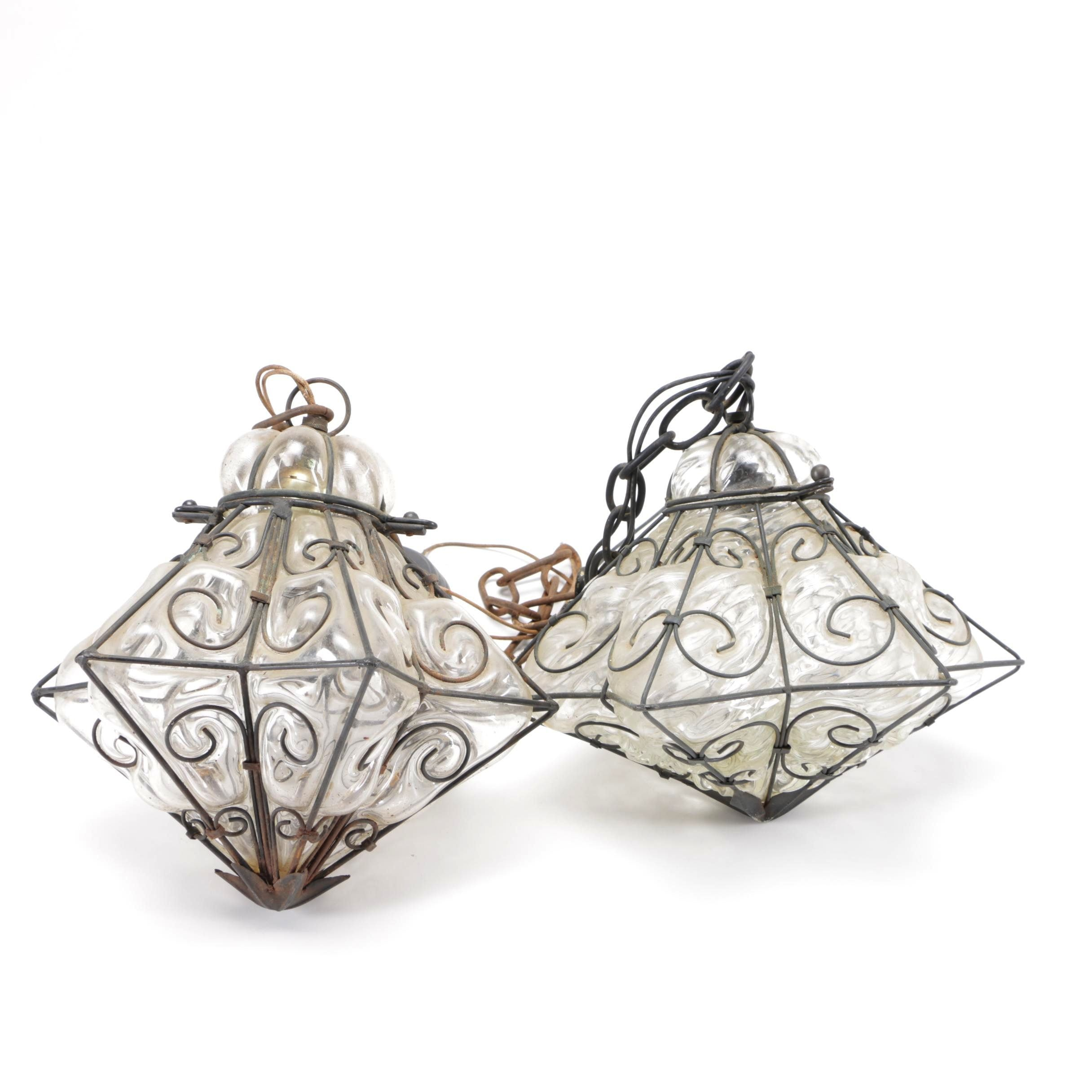 Glass and Metal Star Shaped Lights