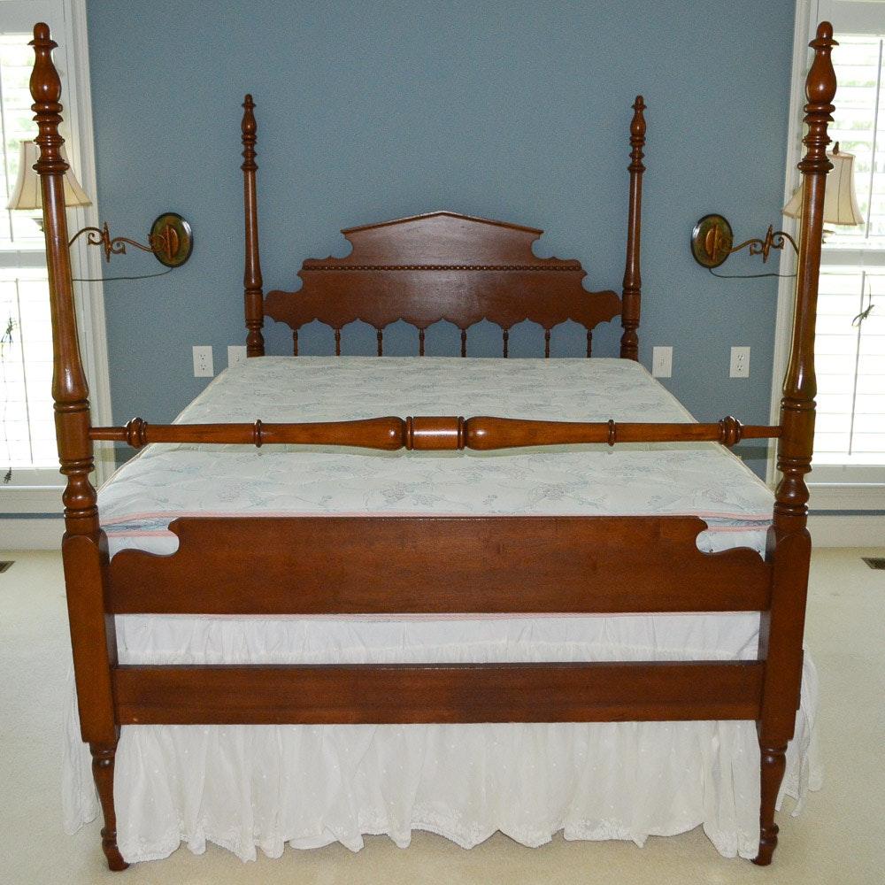Vintage Four Poster Full Size Bed Frame