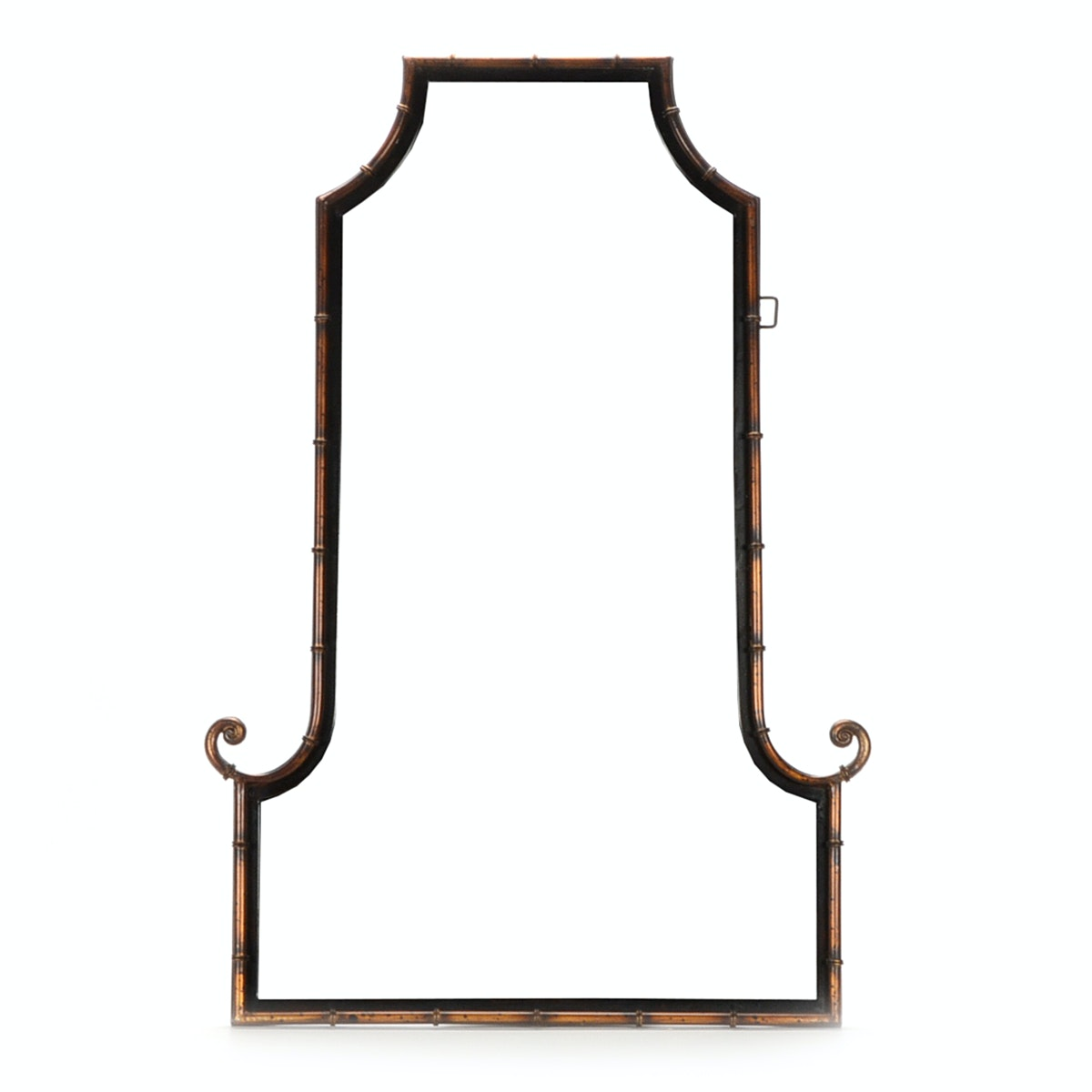 Decorative Faux Bamboo Framed Beveled Wall Mirror