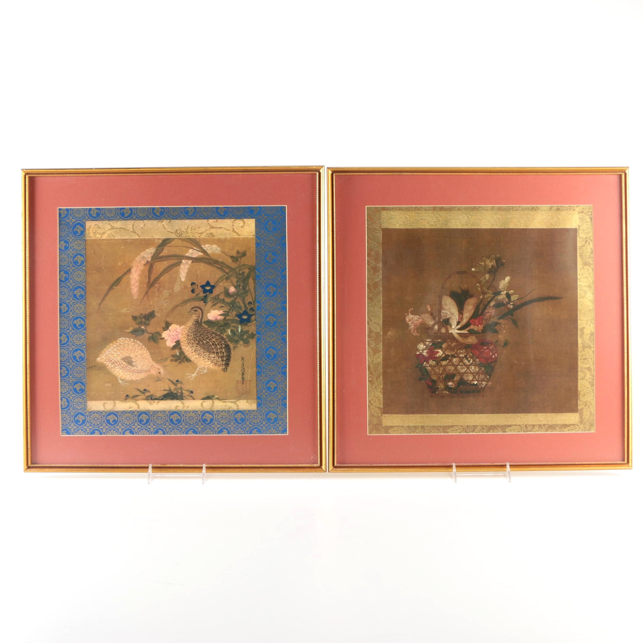 Offset Lithographs After East Asian Paintings