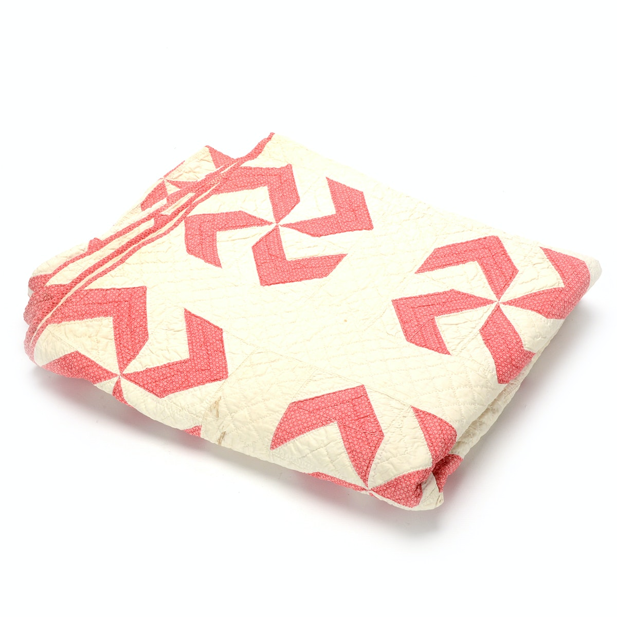 """Handcrafted """"Pinwheel"""" Patterned Quilt"""