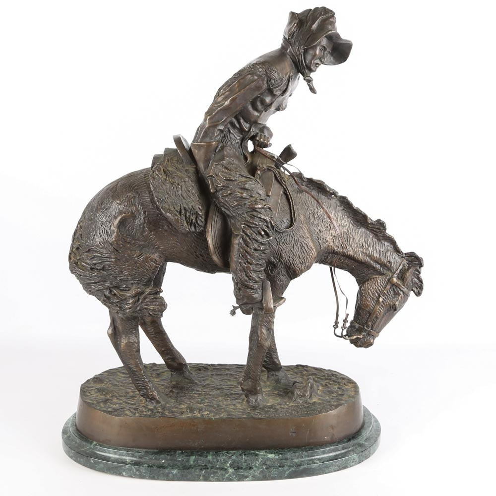 """After Frederic Remington Bronze Sculpture """"The Norther"""""""