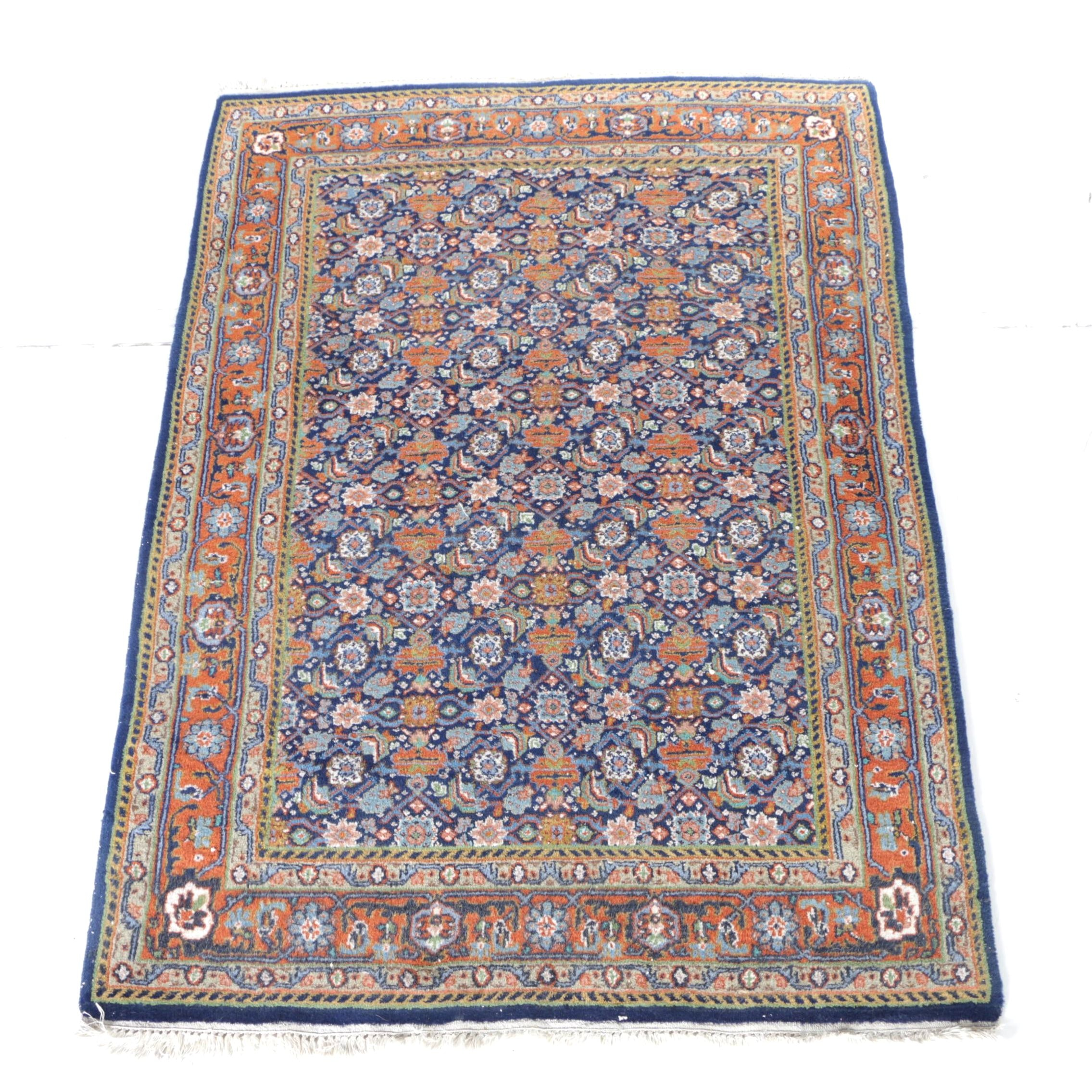 "Hand-Knotted Indo-Persian ""Herati"" Area Rug"