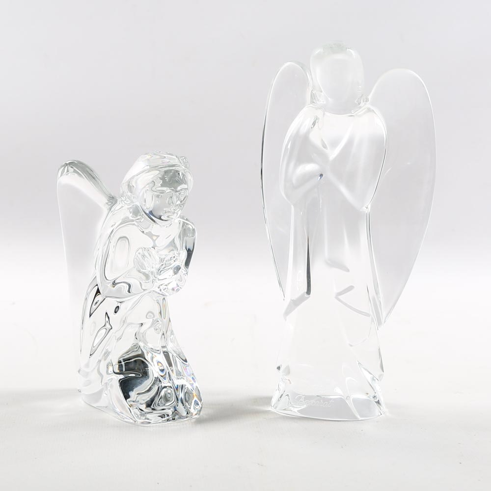 Baccarat Crystal Angel Figurines