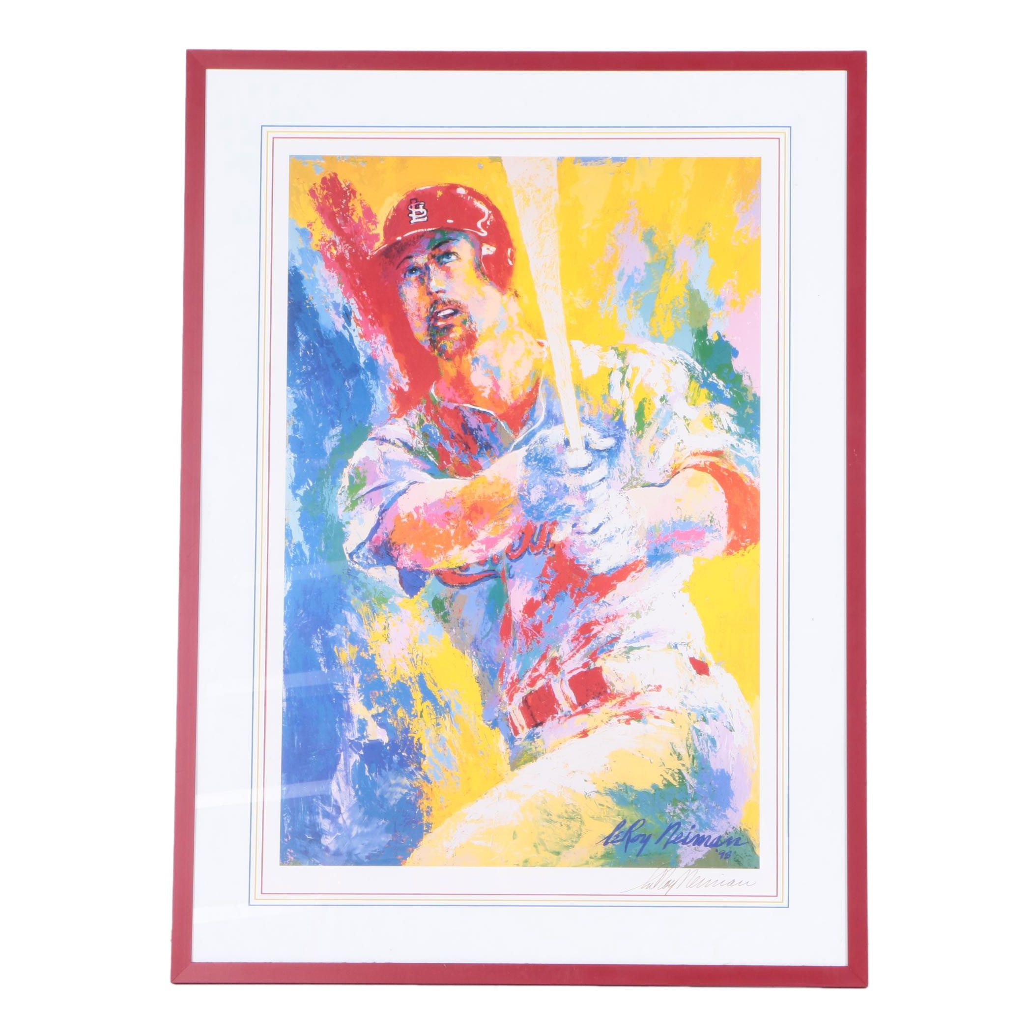 LeRoy Neiman Offset Lithograph of Mark McGwire