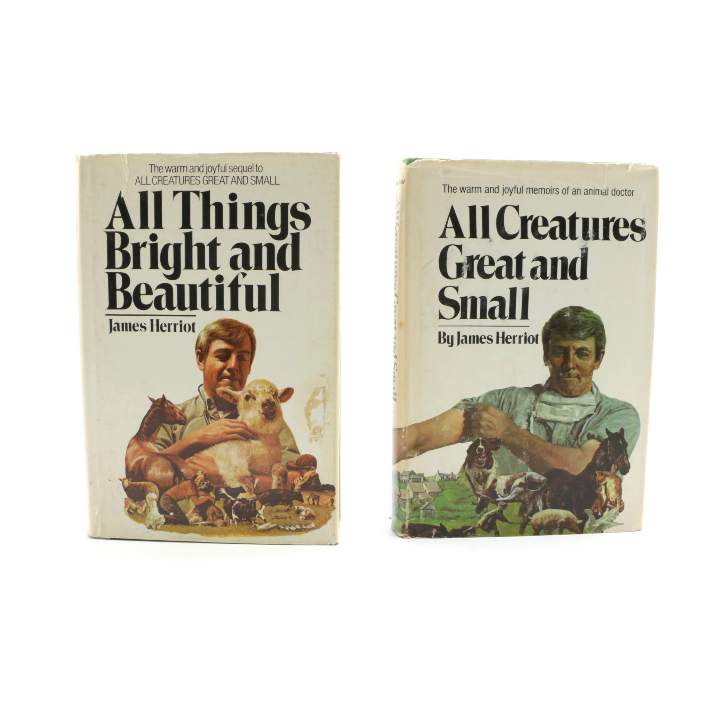 """1970s """"All Things Bright and Beautiful"""" and """"All Creatures Great and Small"""" by James Herriot"""