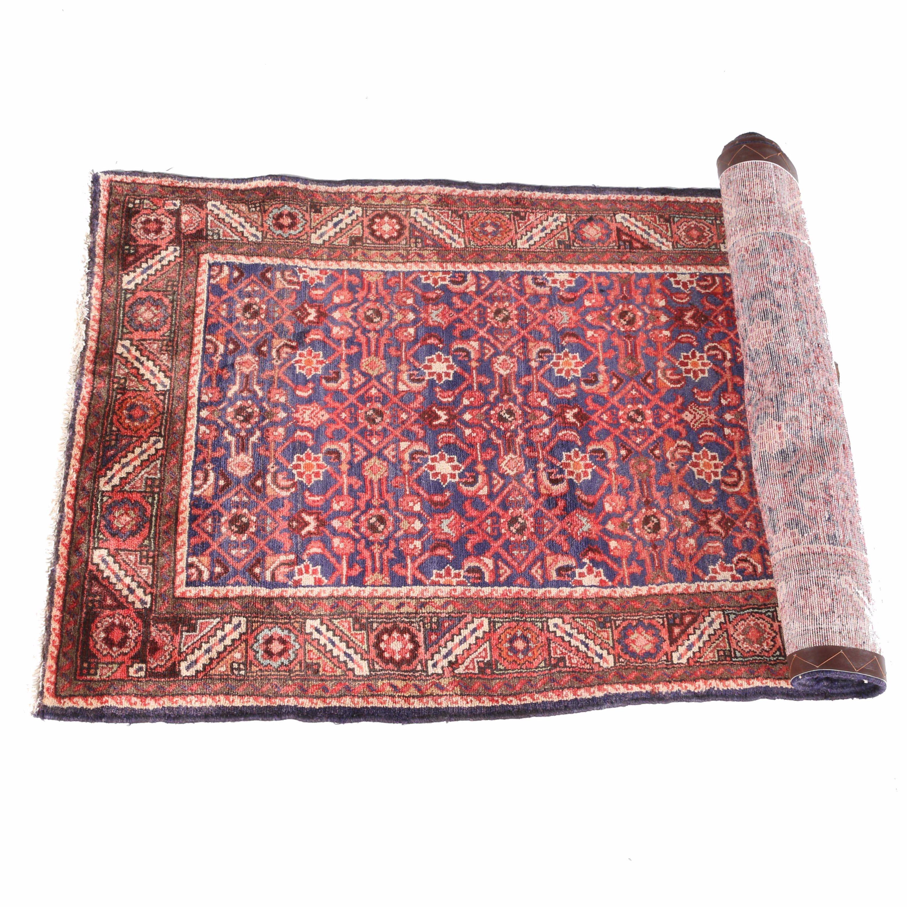 Semi-Antique Hand-Knotted Kurdish Carpet Runner