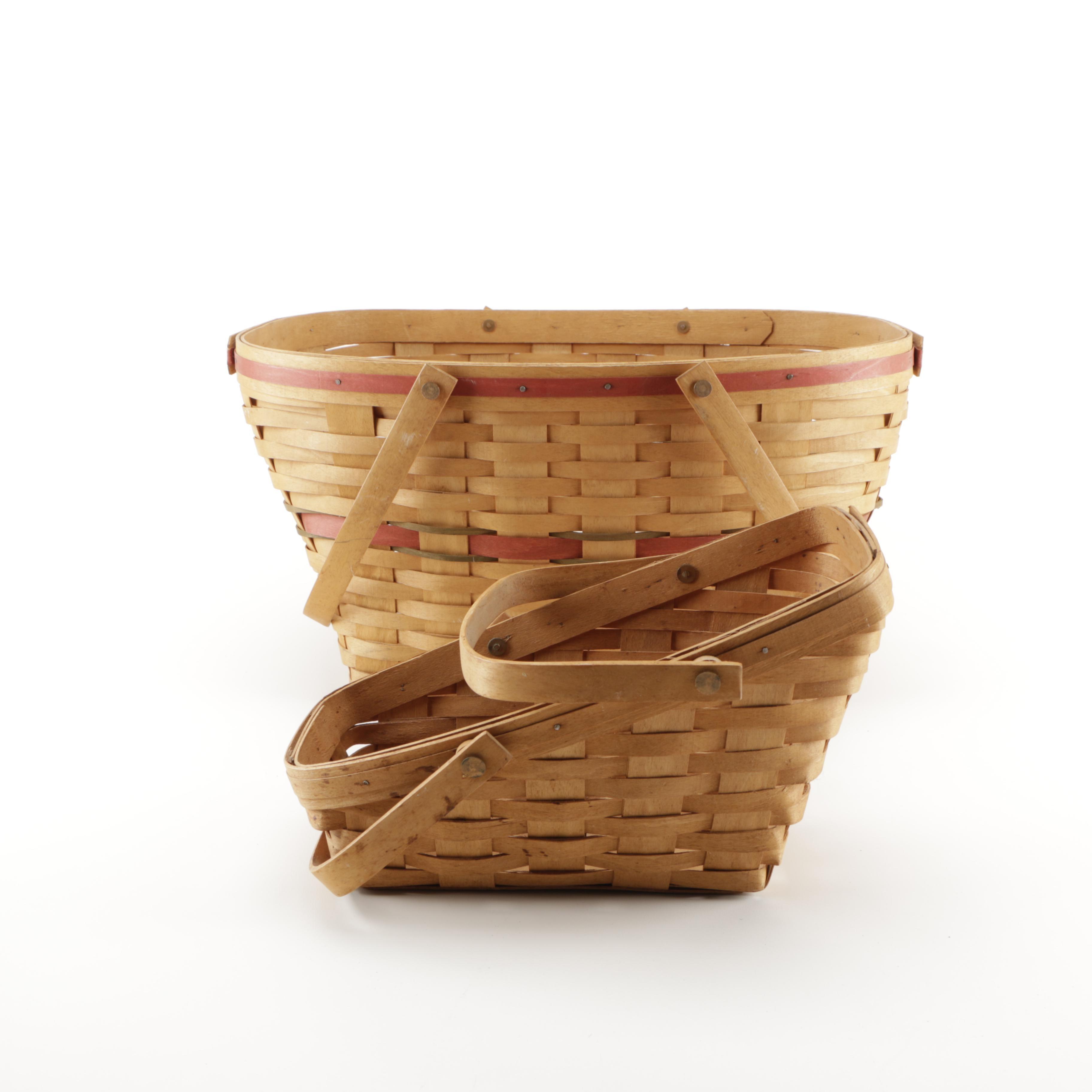 Longaberger Hand-Woven Christmas and Sleigh Baskets