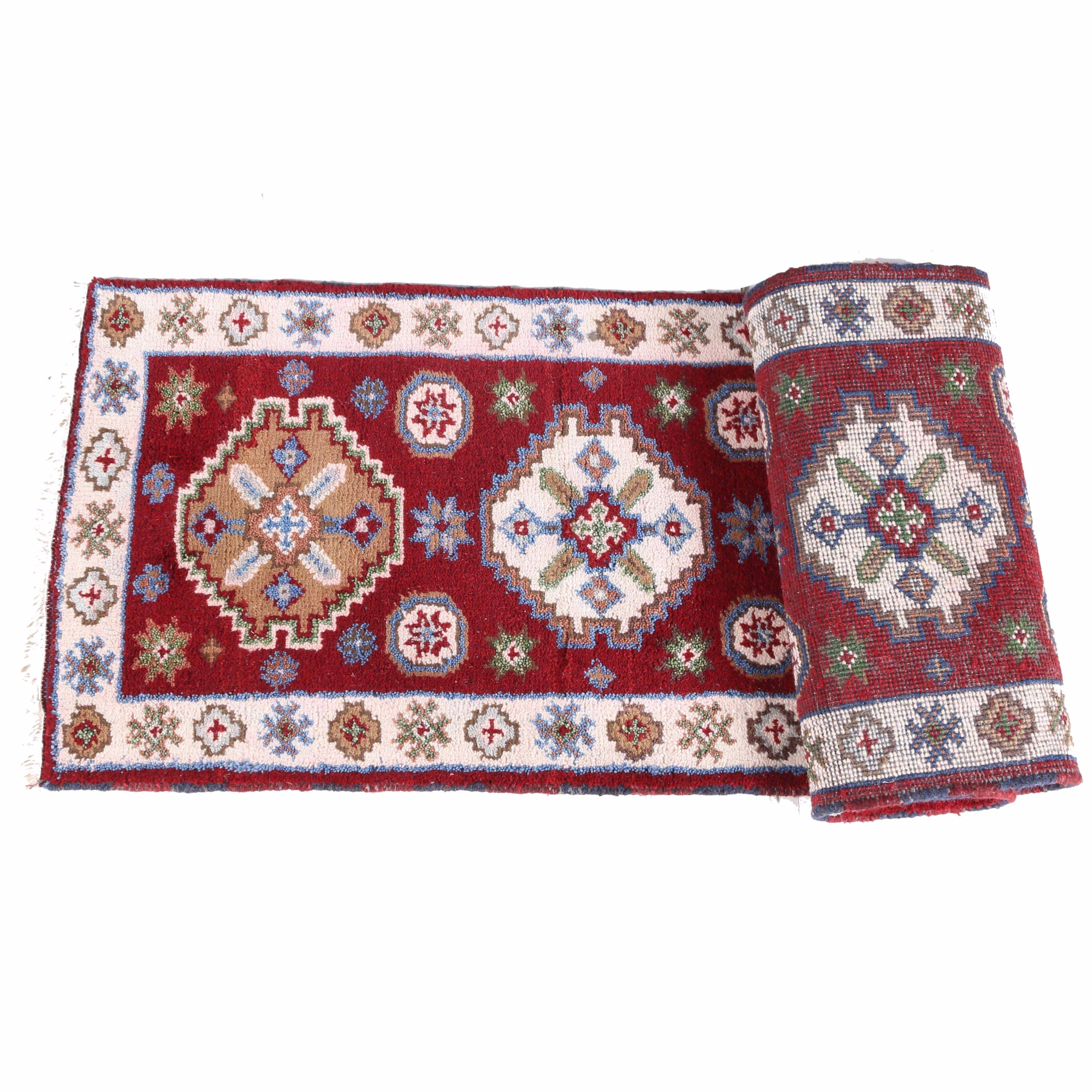 Hand-Knotted Indo-Anatolian Carpet Runner