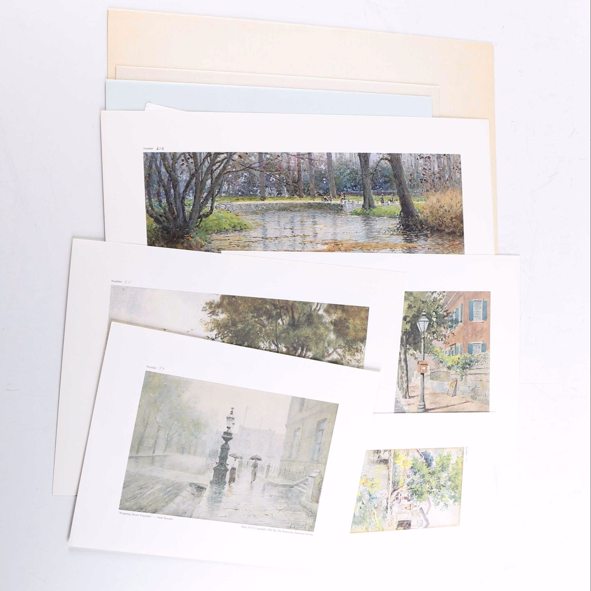 Paul Sawyier Limited Edition Offset Lithographs of Landscapes