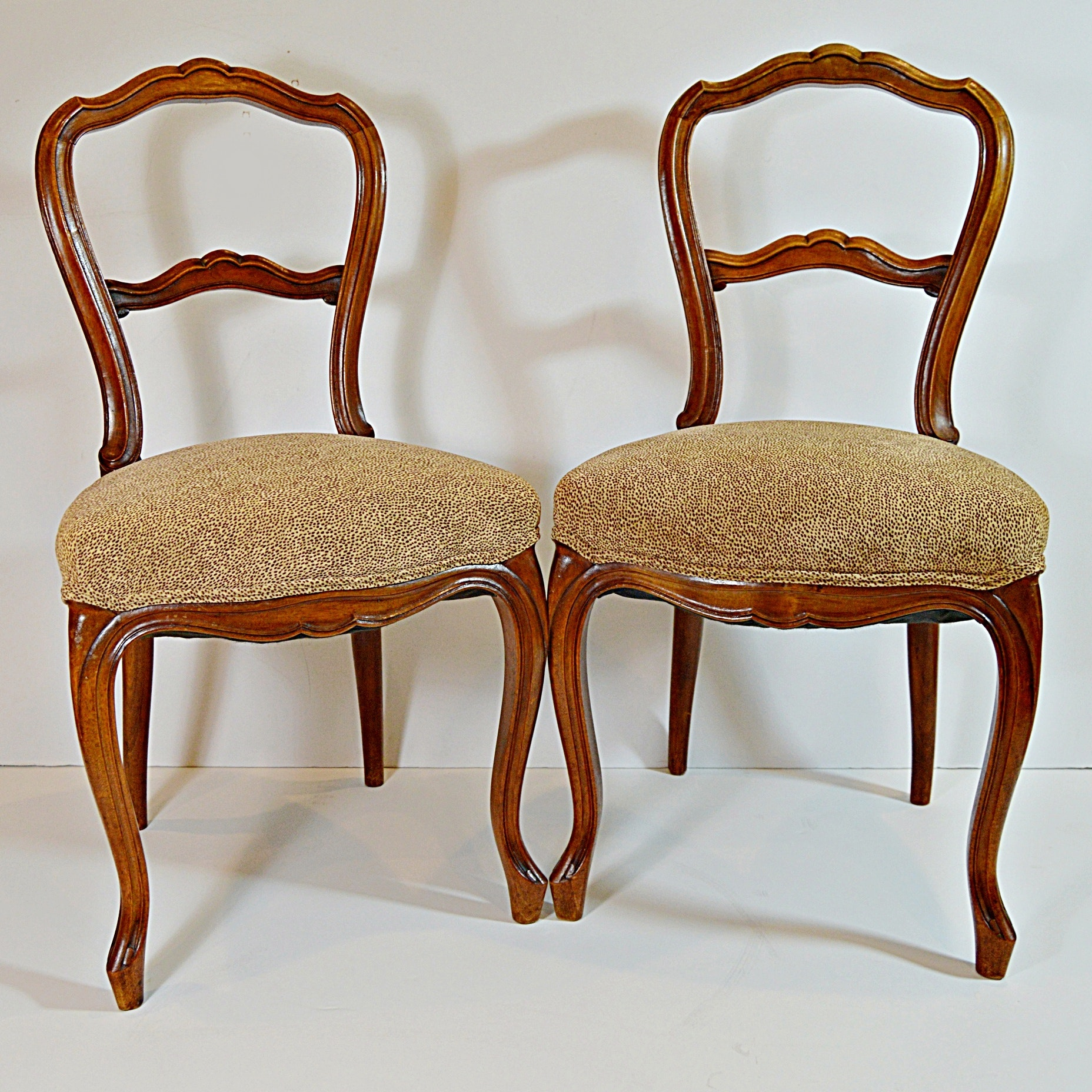 Pair of Antique Louis XV Style Side Chairs