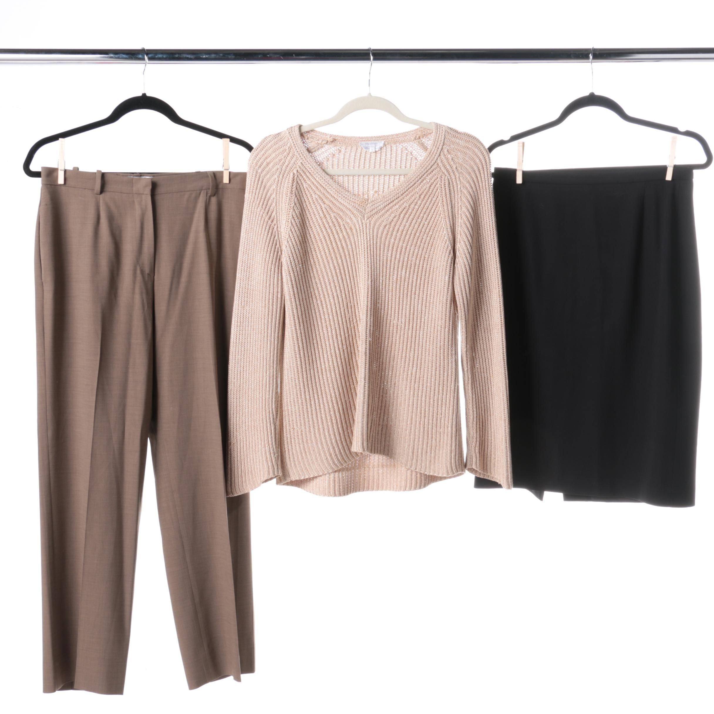 MaxMara Sweater, Pair of Pants, and a Skirt