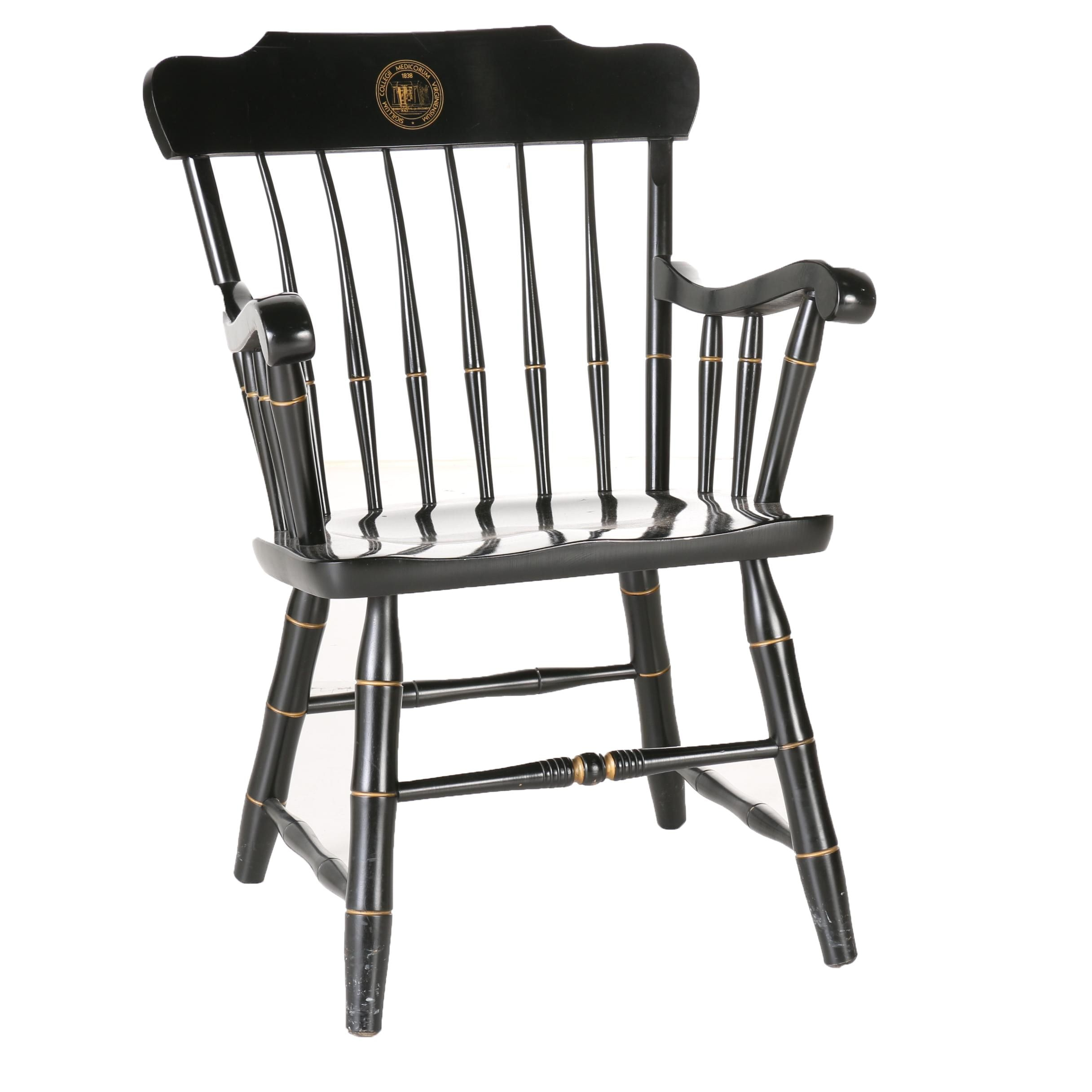 Black Wooden Virginia College of Physicians Armchair