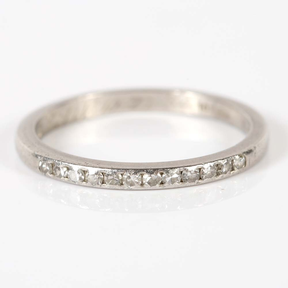 Platinum Twelve-Stone Diamond Band