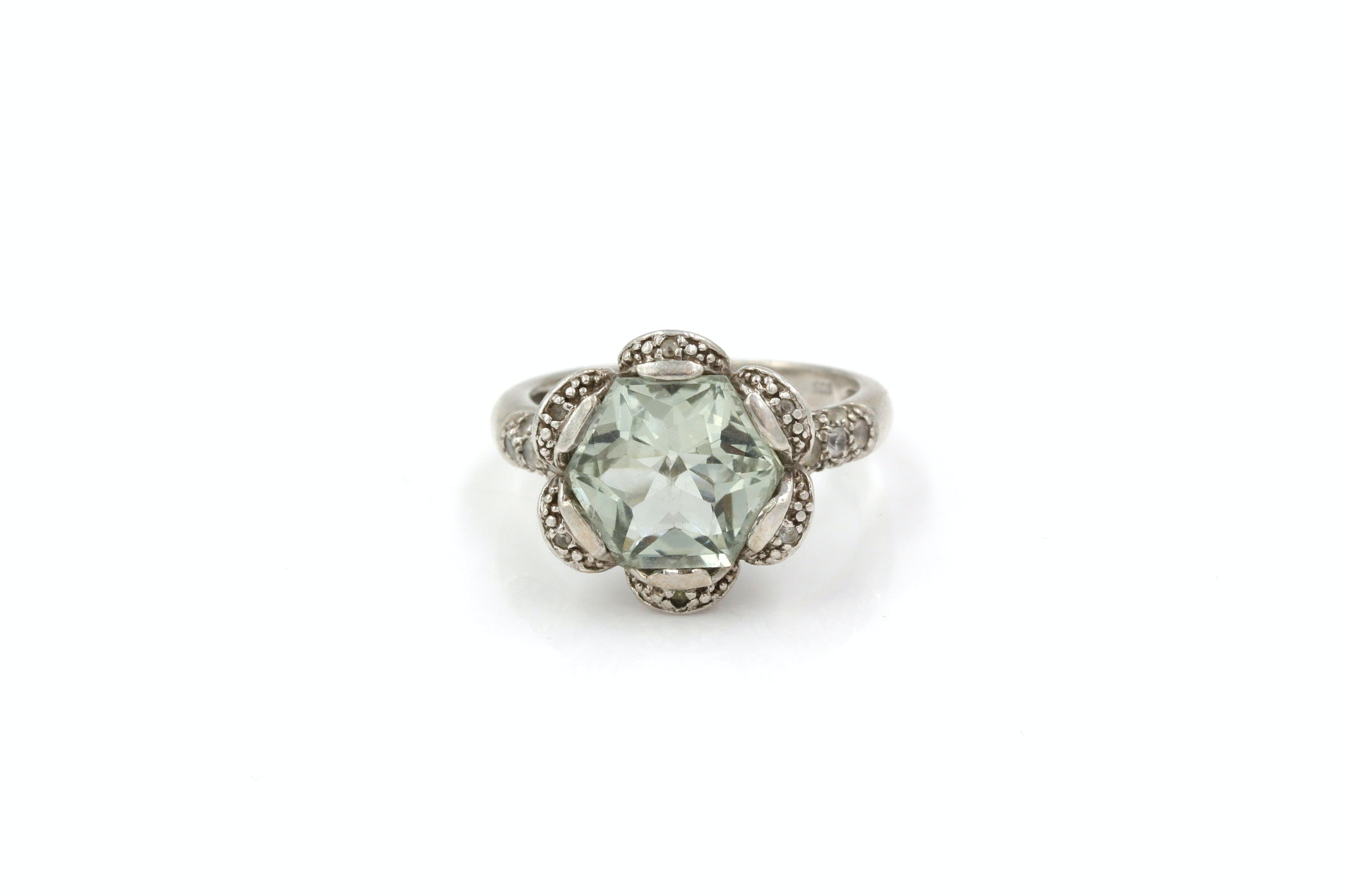 Sterling Silver and Prasiolite Quartz Ring