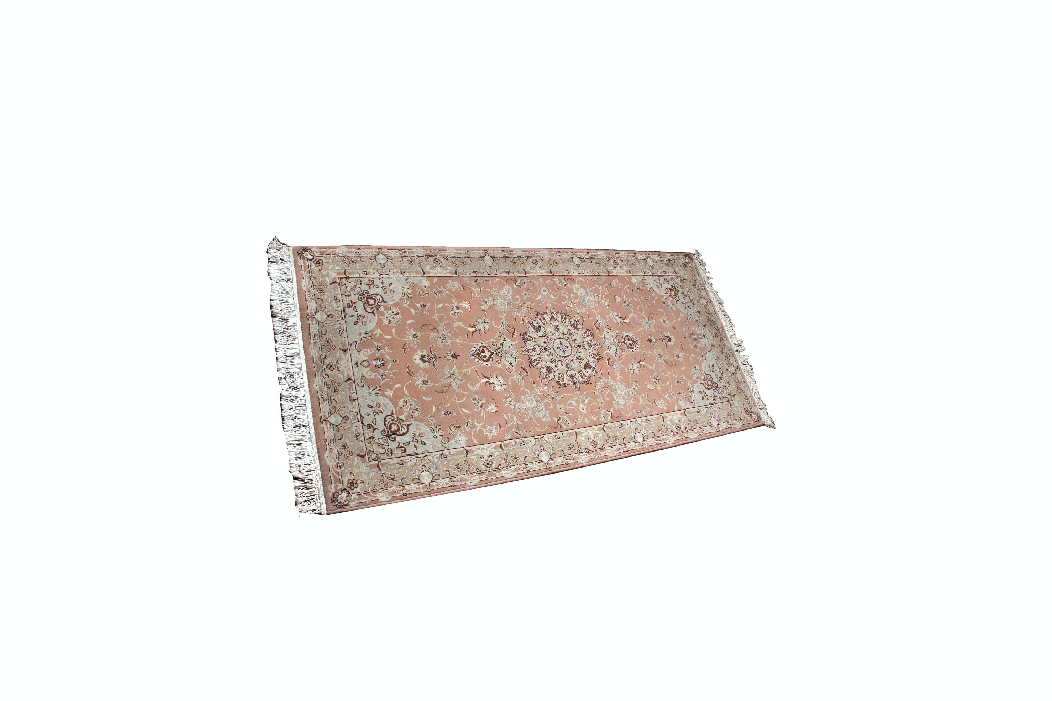 Power Loomed Persian Wool and Silk Area Rug