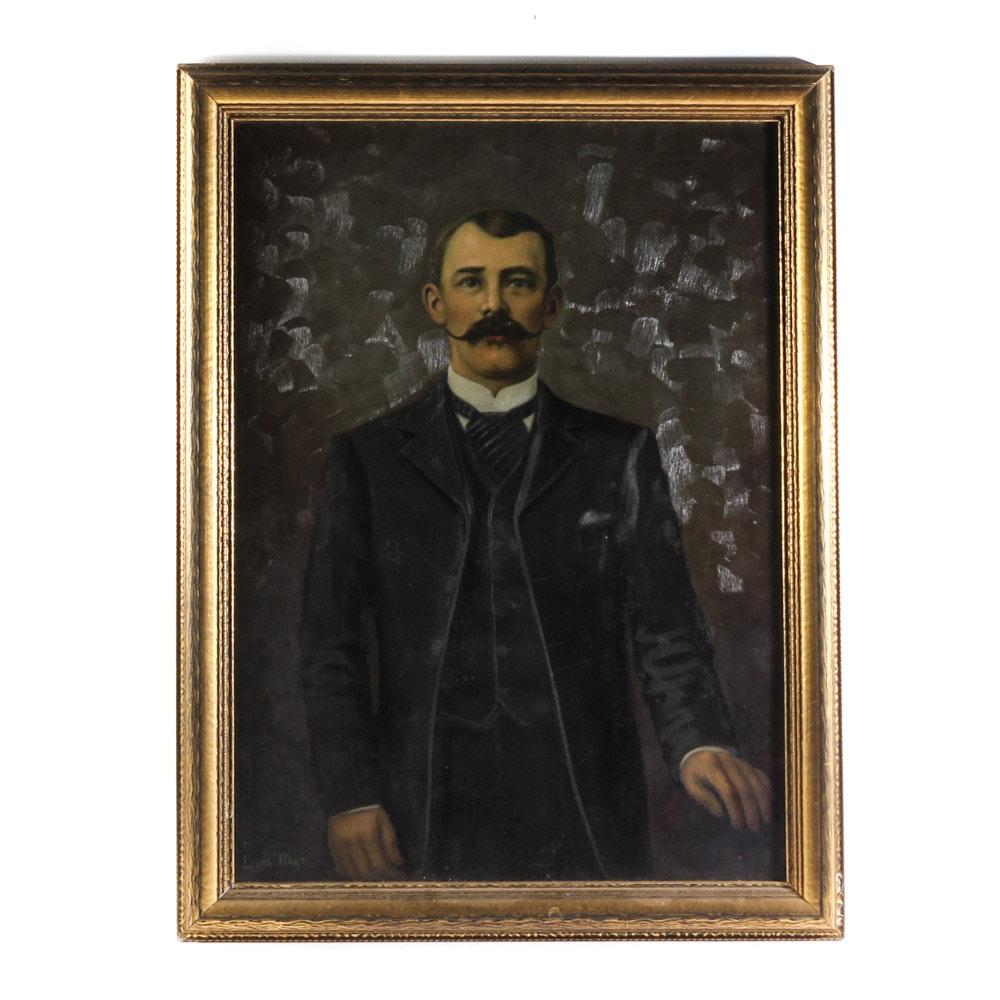 19th Century Oil on Canvas Portrait