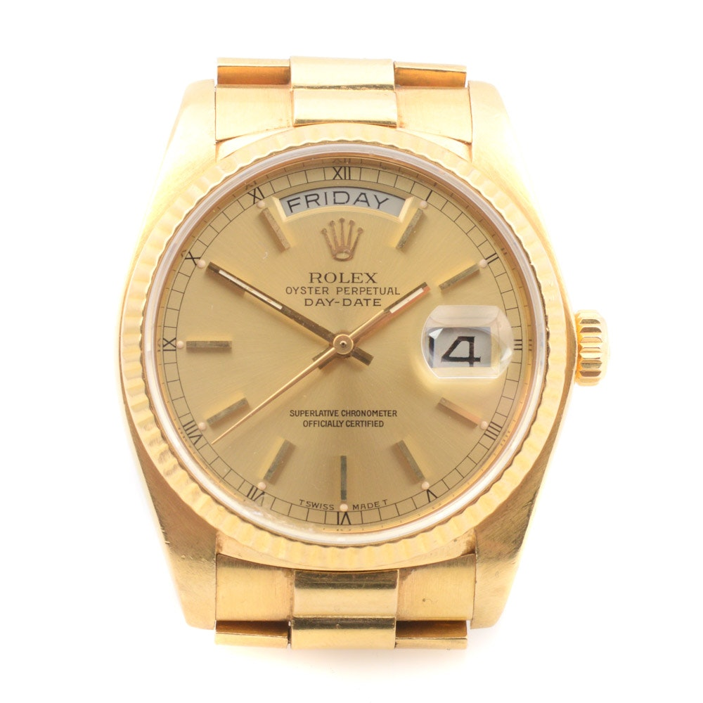 18K Yellow Gold Rolex Presidential Wristwatch
