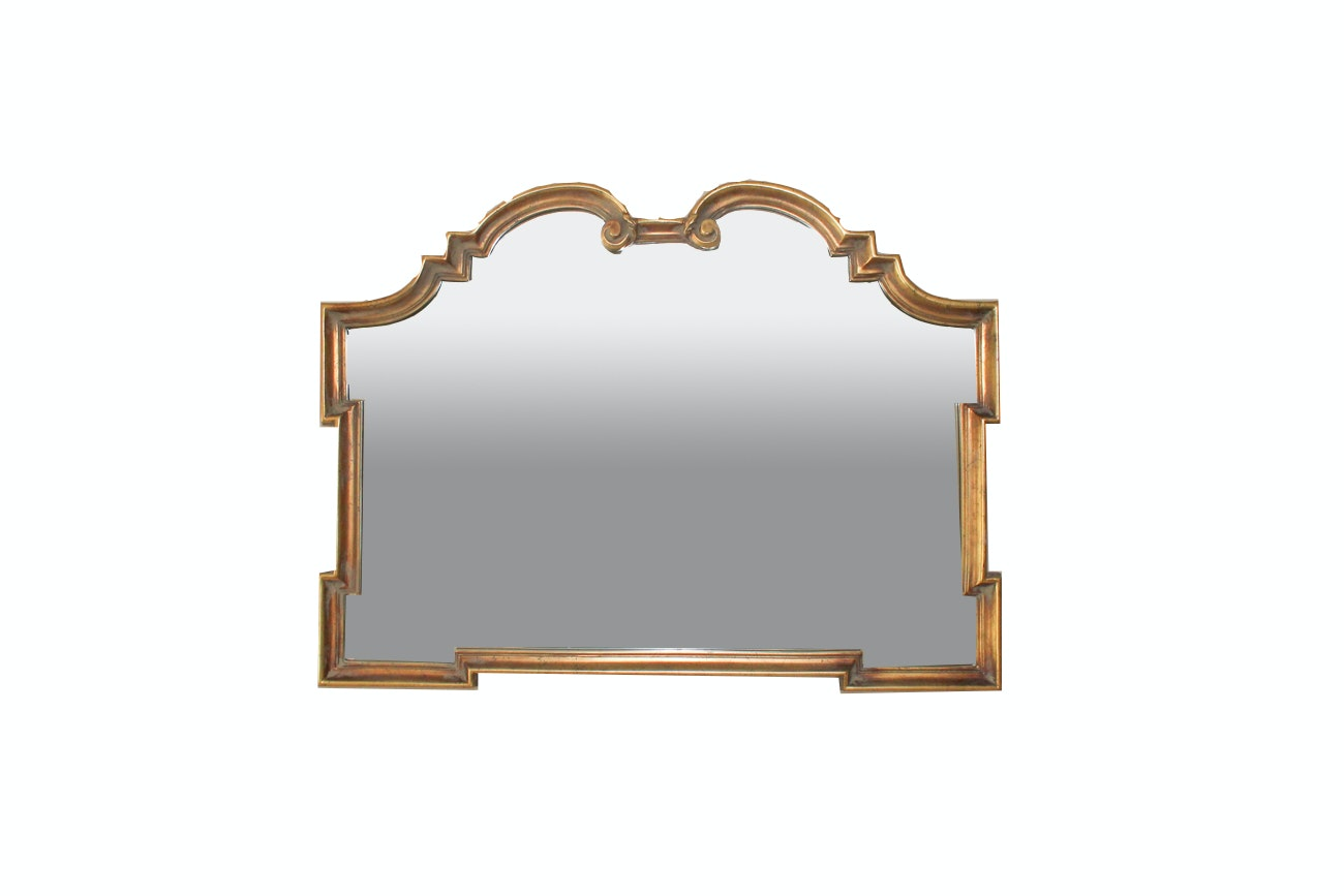 Large Elegant Wall Mirror With Gold Gilt Frame