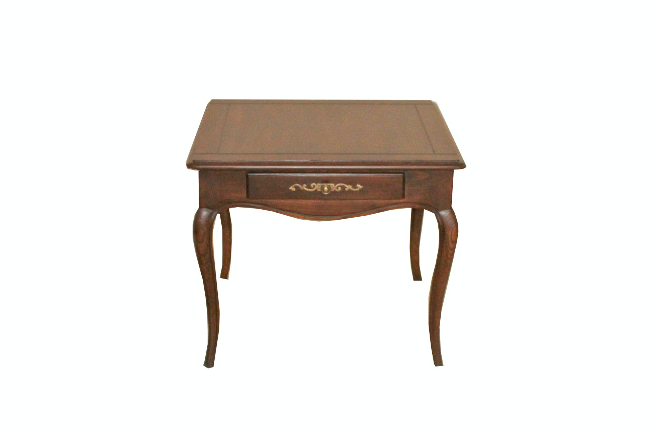"""Henredon """"Four Centuries"""" Solid Ash Side Table"""
