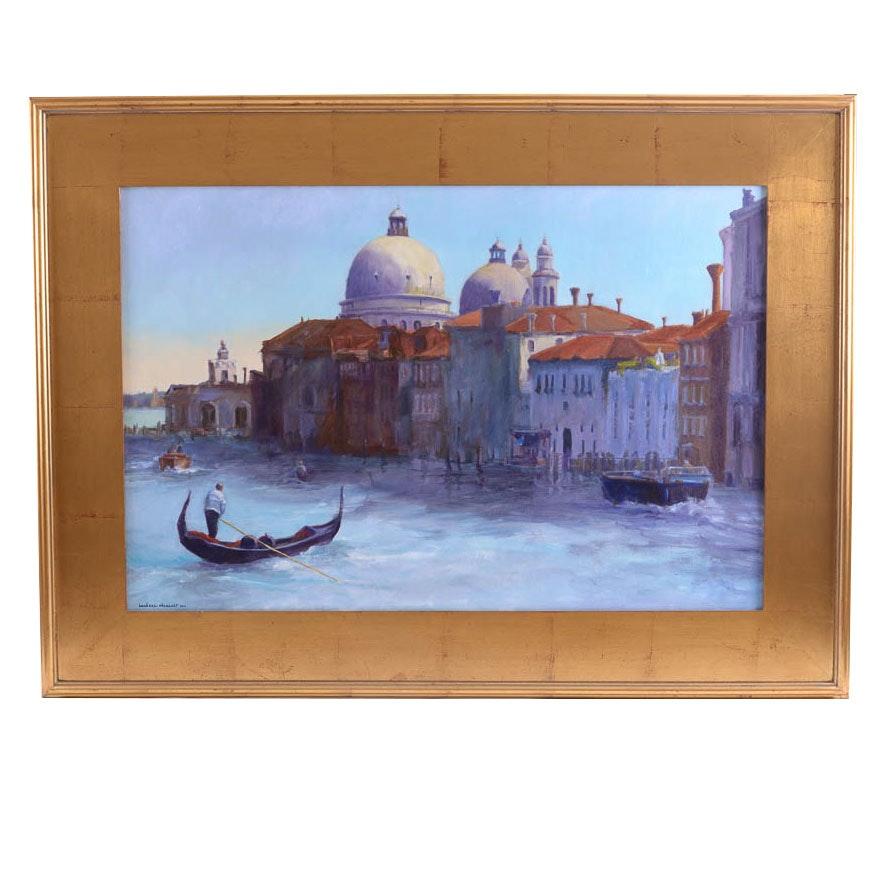 Barbara Chenault Venice Original Oil Painting on Canvas