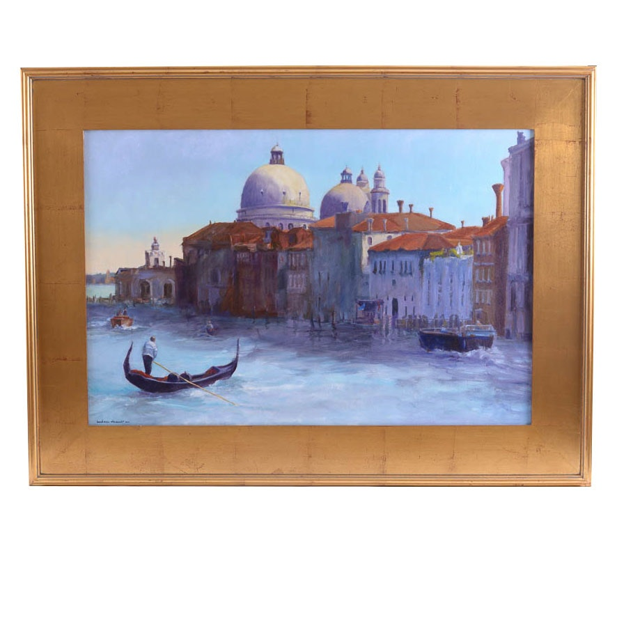 Barbara Chenault Venice Original Oil Painting on Canvas