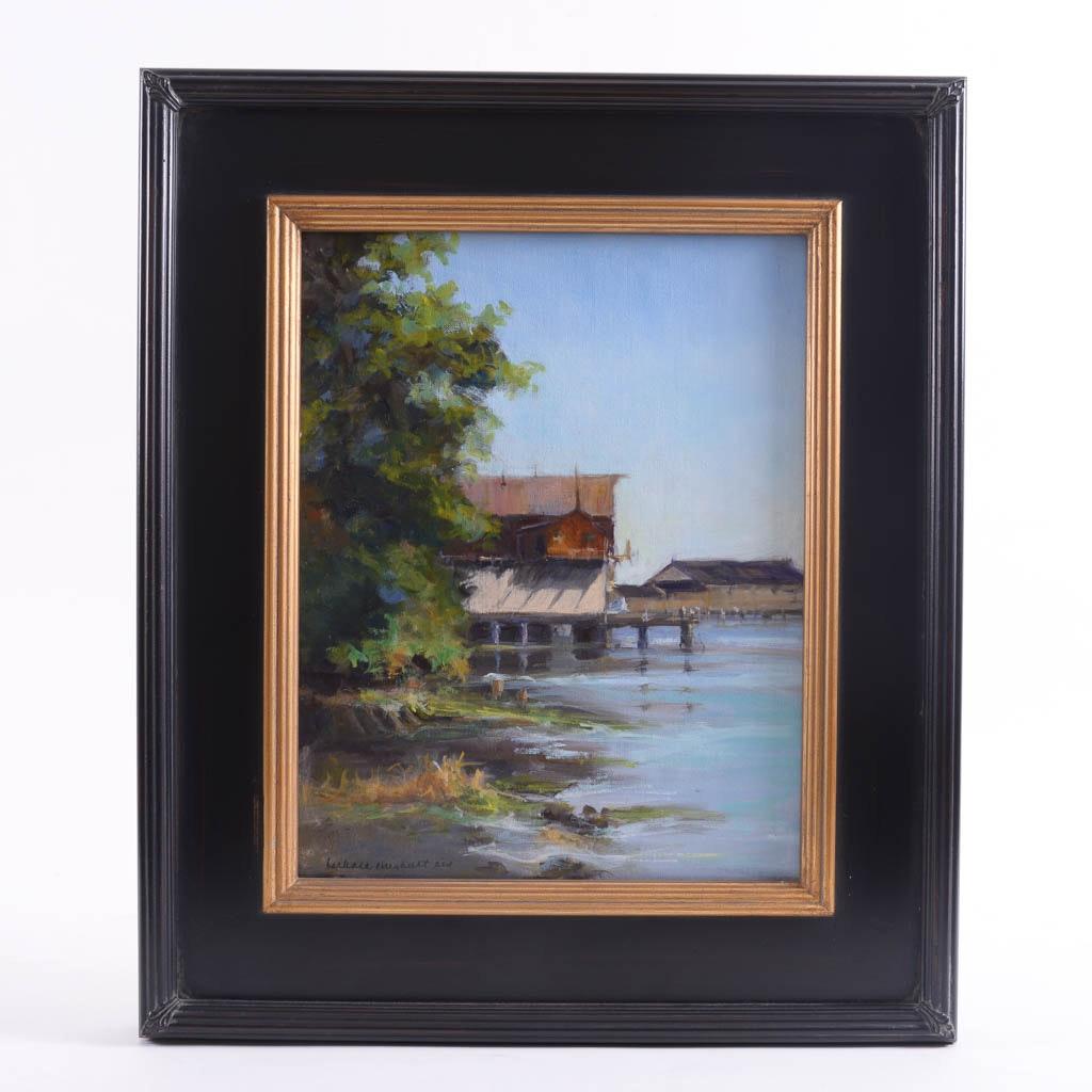 """Barbara Chenault """"Bodega Bay"""" Original Oil Painting"""