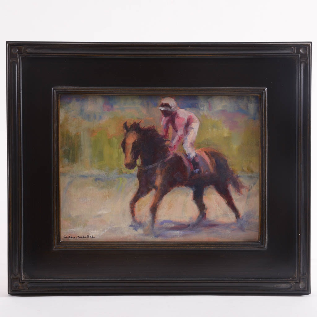 """Barbara Chenault """"Come On Boy!!"""" Original Oil Painting"""