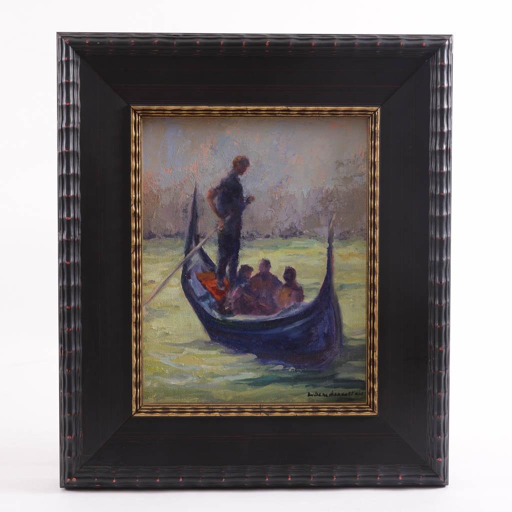 "Barbara Chenault ""Gondola Ride"" Original Oil Painting"