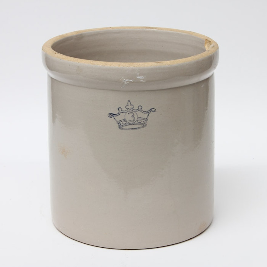 Three Gallon Ransbottom Stoneware Crock