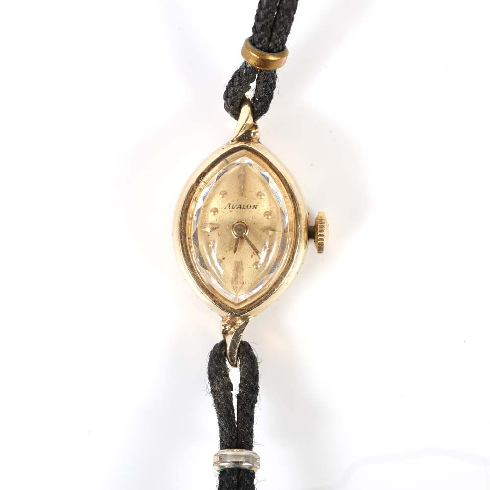 Avalon 14K Yellow Gold Wristwatch