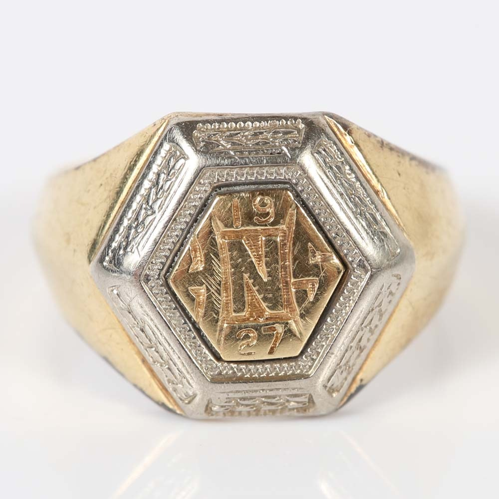10K Gold 1927 Class Ring