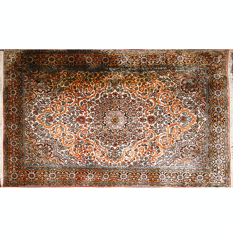 Hand Woven Indo-Persian Art Silk Area Rug