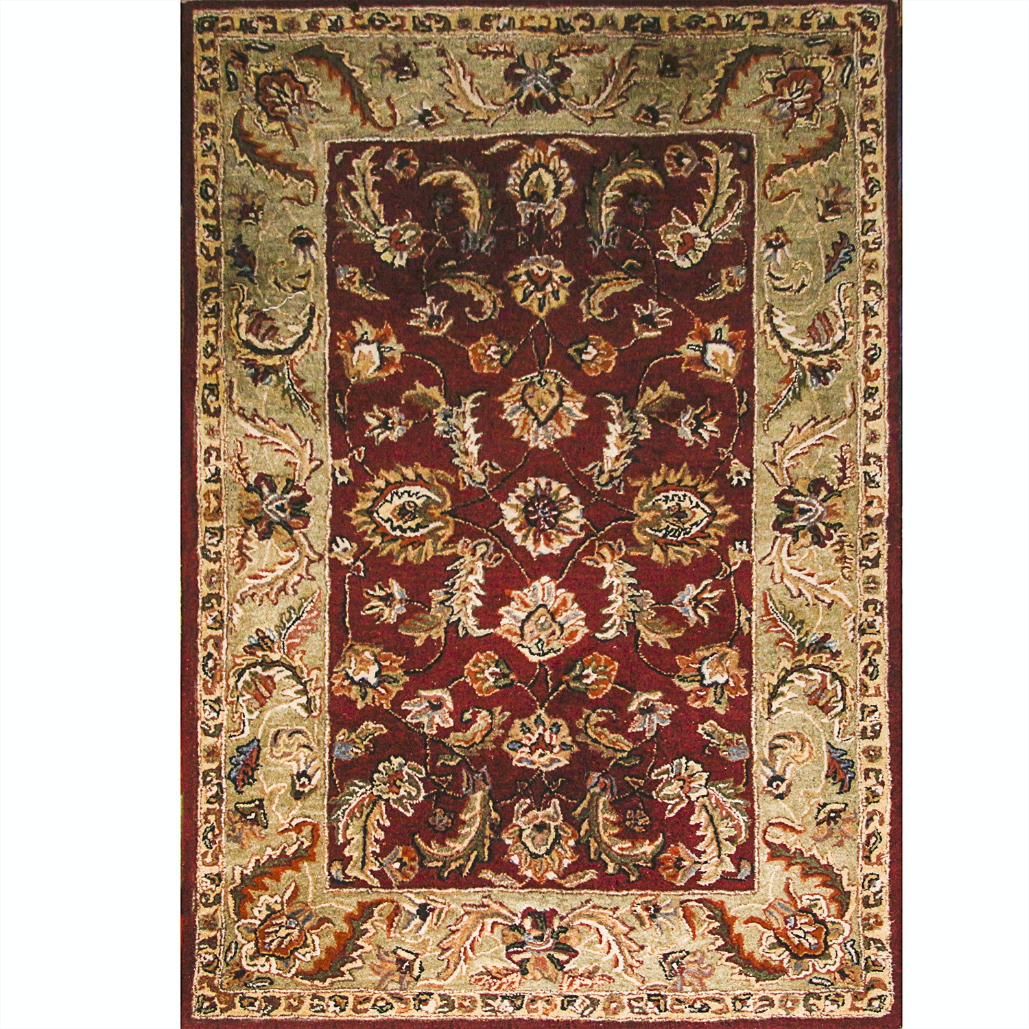 Tufted Indo-Persian Wool Area Rug