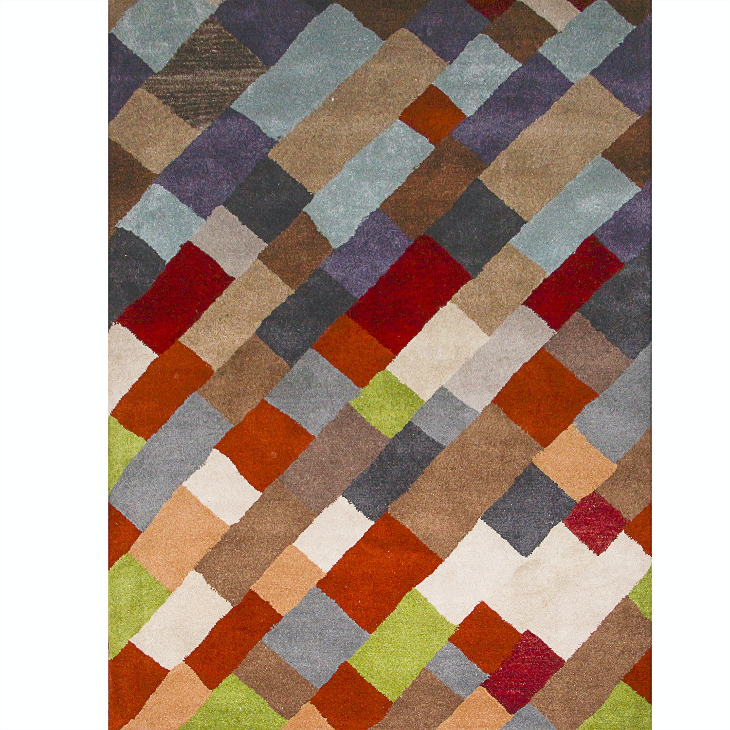 Contemporary Tufted Geometric Print Rug